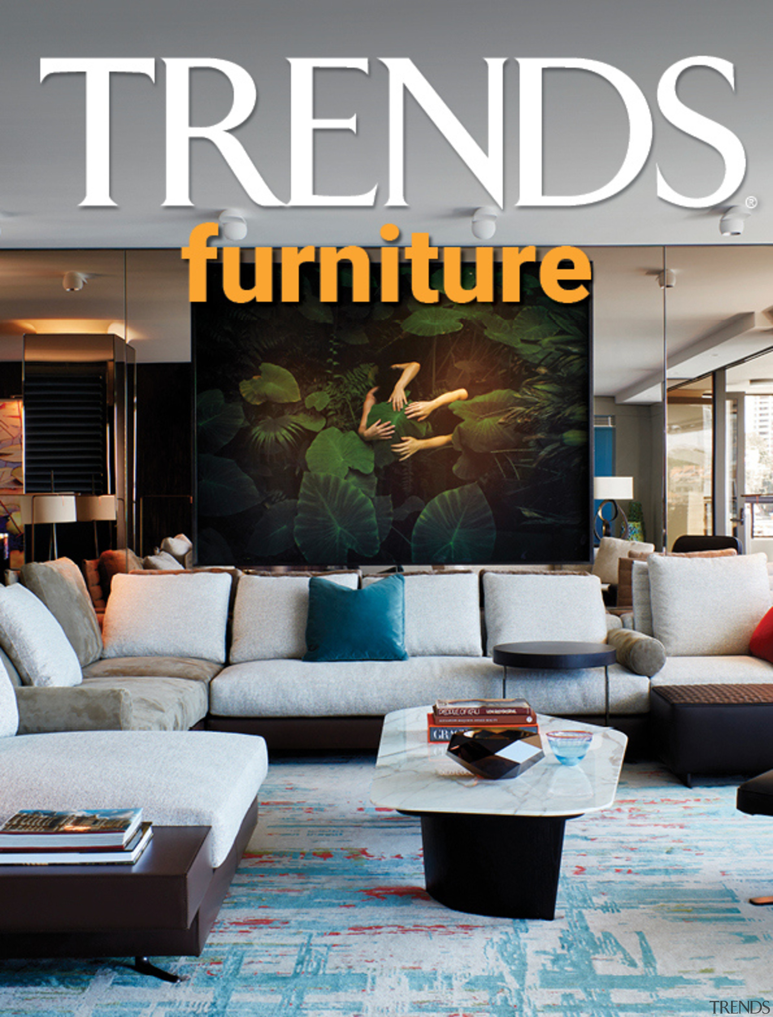 TRENDS MINI COVER 30 furniture - building | building, ceiling, couch, design, floor, furniture, home, house, interior design, lighting, living room, property, room, table, wall, gray