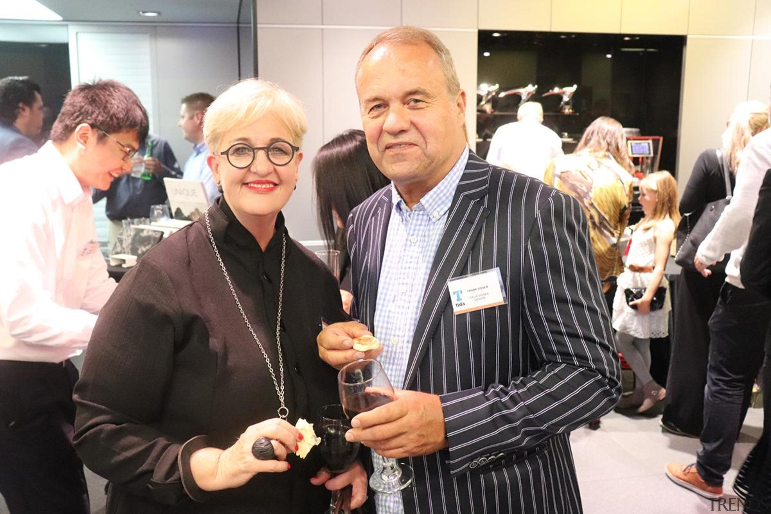 Celia and Frank Visser - event   eyewear event, eyewear, black, white