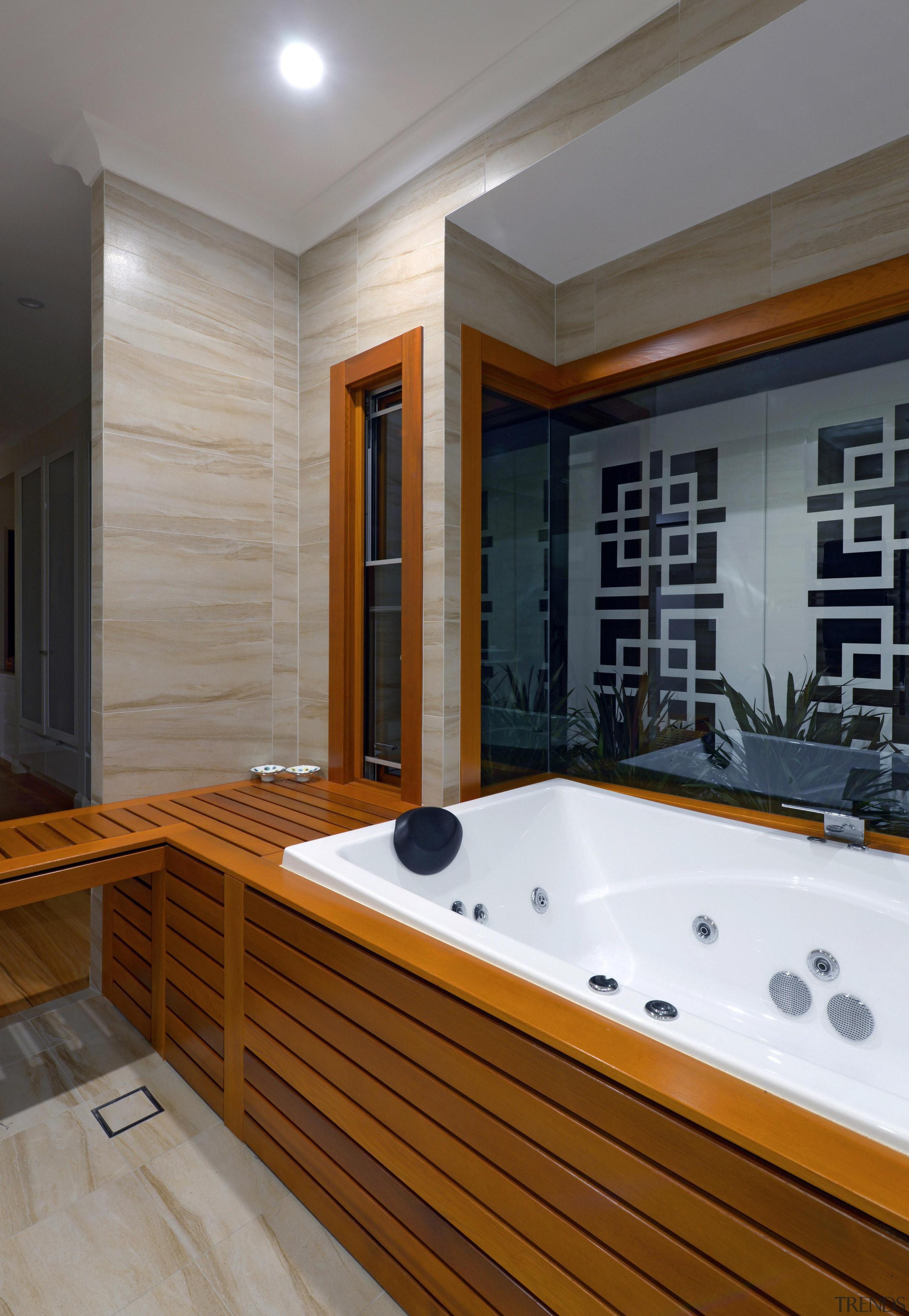 Winner Bathroom Design of the Year 2013 Hunter architecture, bathroom, bathtub, floor, interior design, room, gray, brown