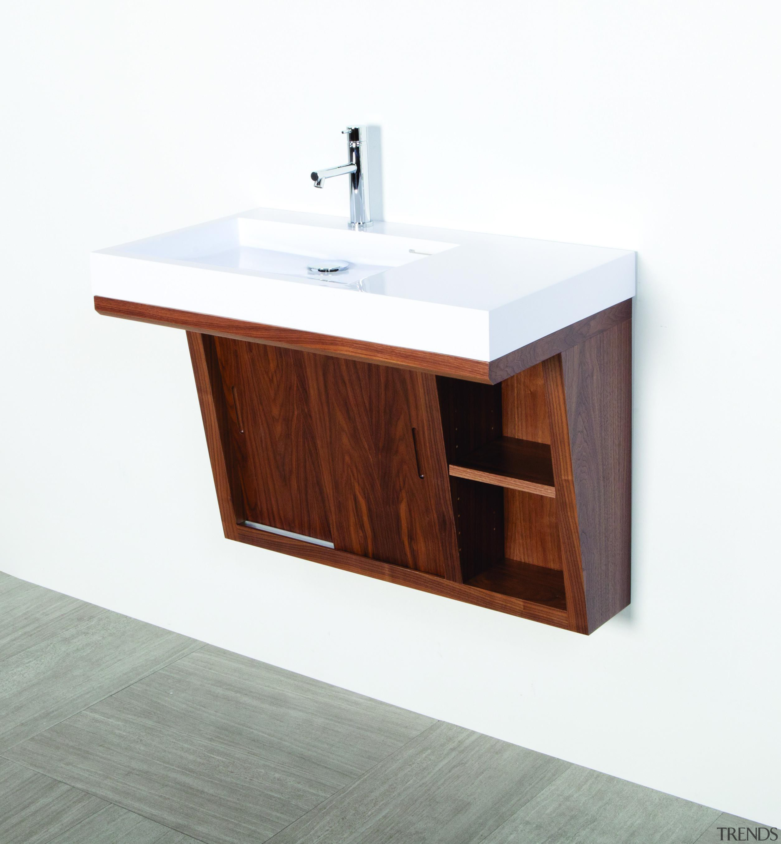 Wall-mounted undercounter vanity with two sliding doors, two angle, bathroom accessory, bathroom cabinet, bathroom sink, furniture, plumbing fixture, product, product design, sink, white