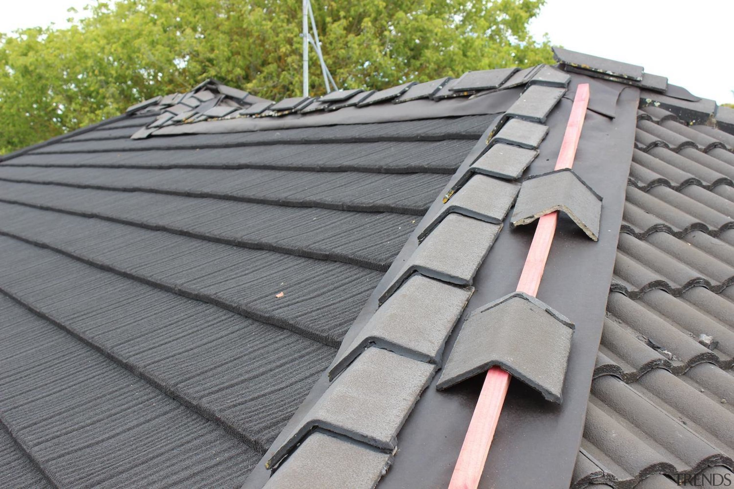 A new roof in progress - daylighting | daylighting, facade, outdoor structure, roof, roofer, siding, gray