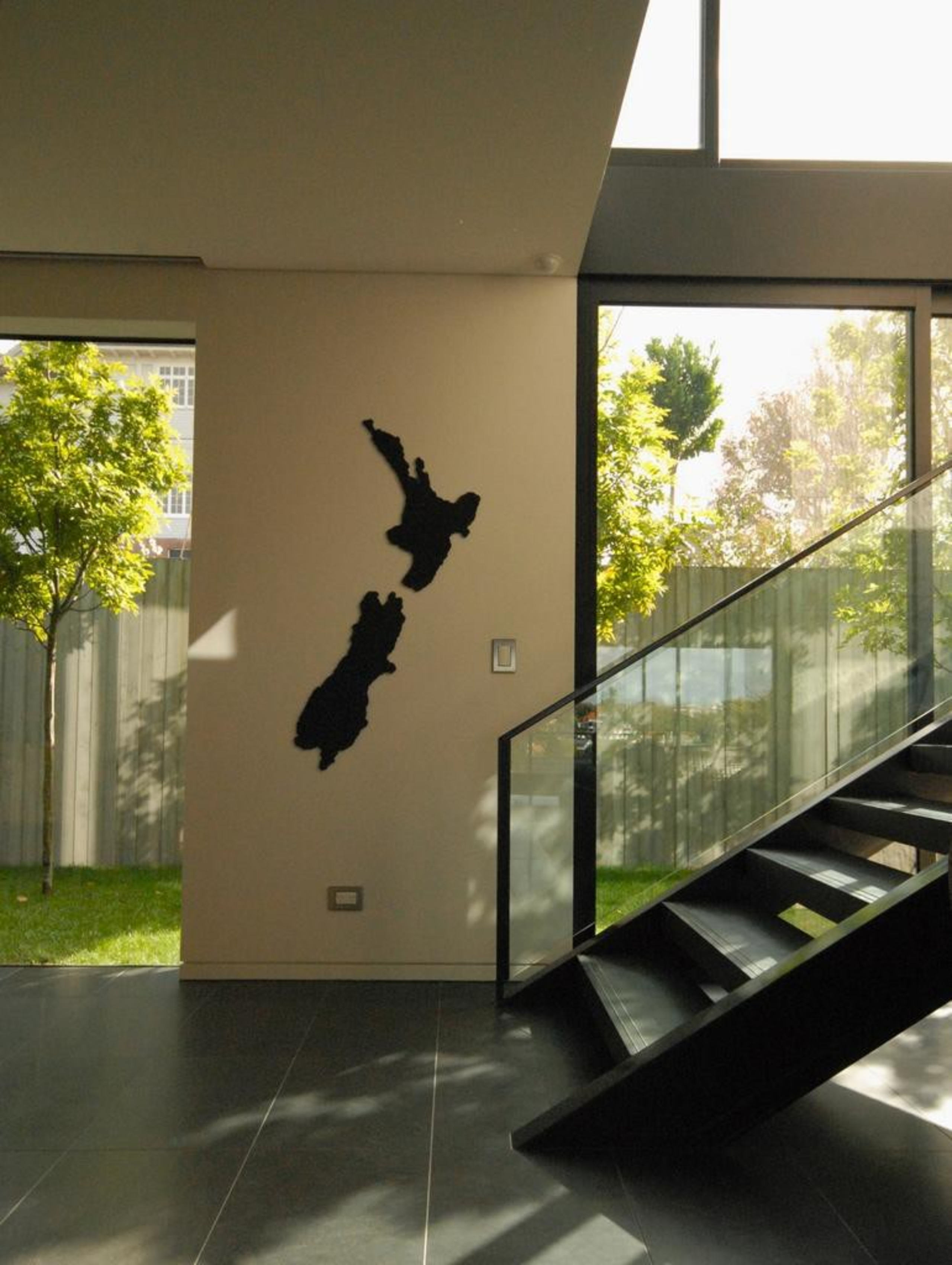 Remuera House - Remuera House - glass | glass, house, wall, window, brown