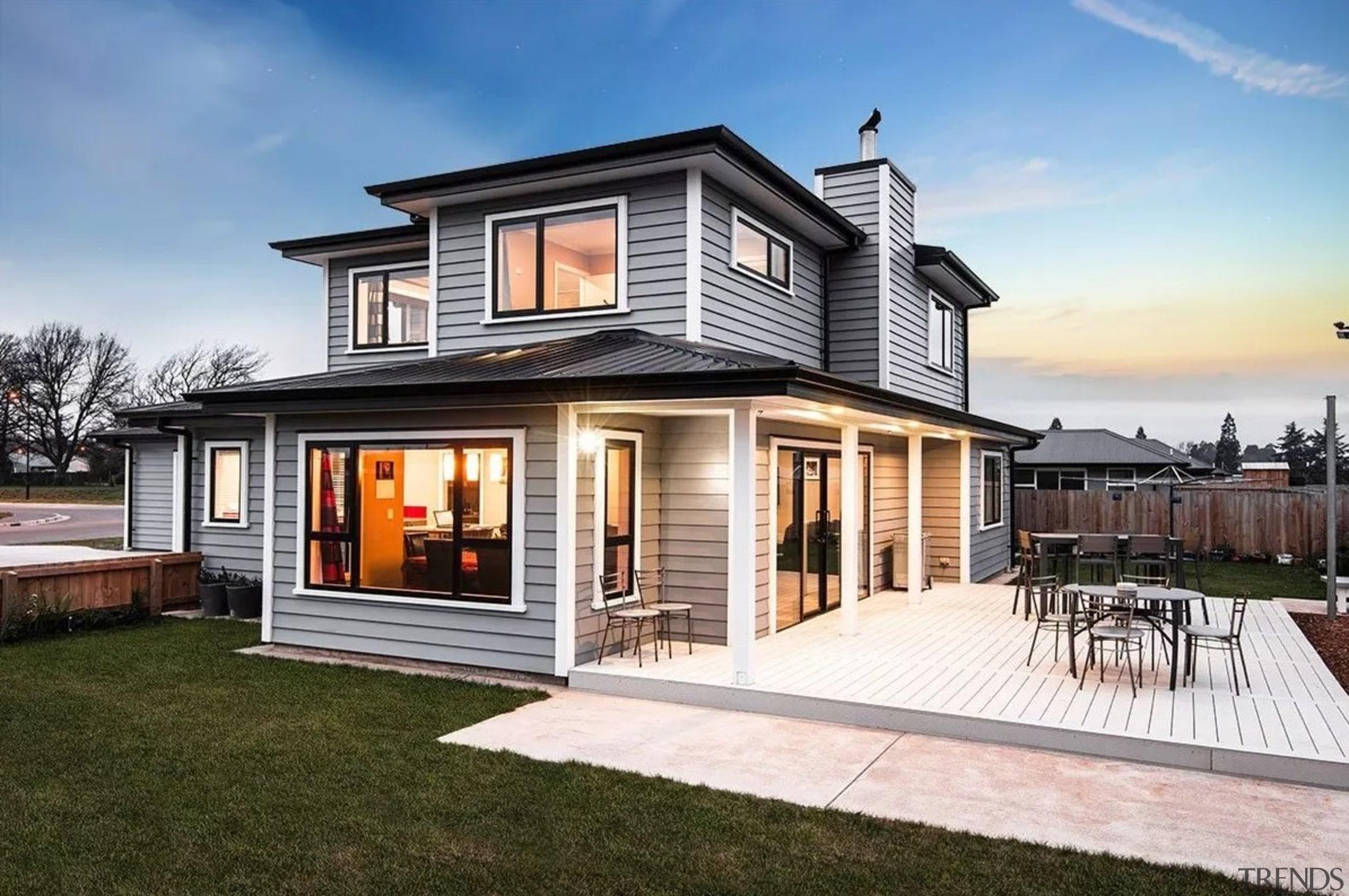 Envira bevel back weatherboards - Envira bevel back elevation, facade, home, house, property, real estate, residential area, siding, white