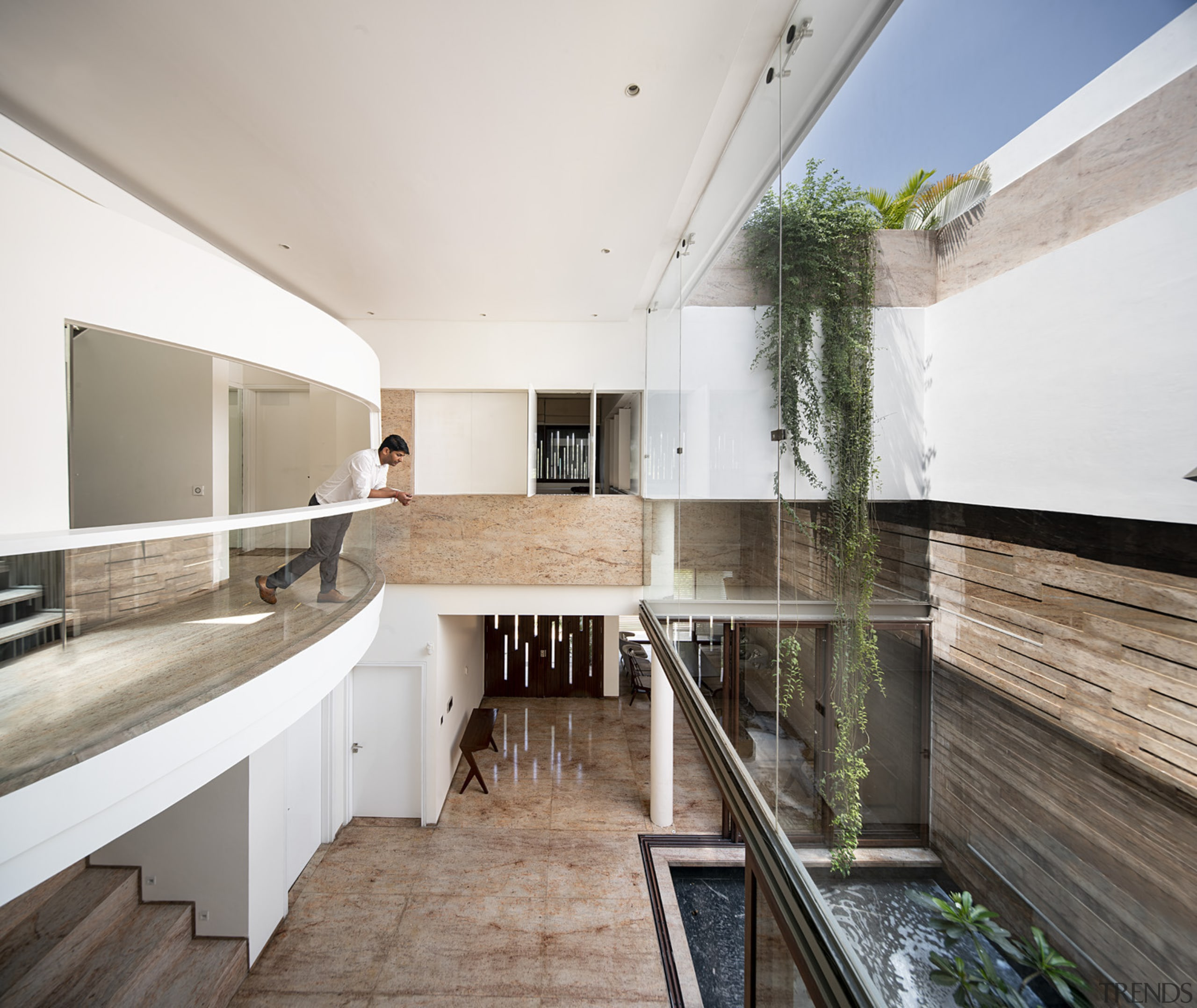 The courtyard facades are designed to avoid allowing