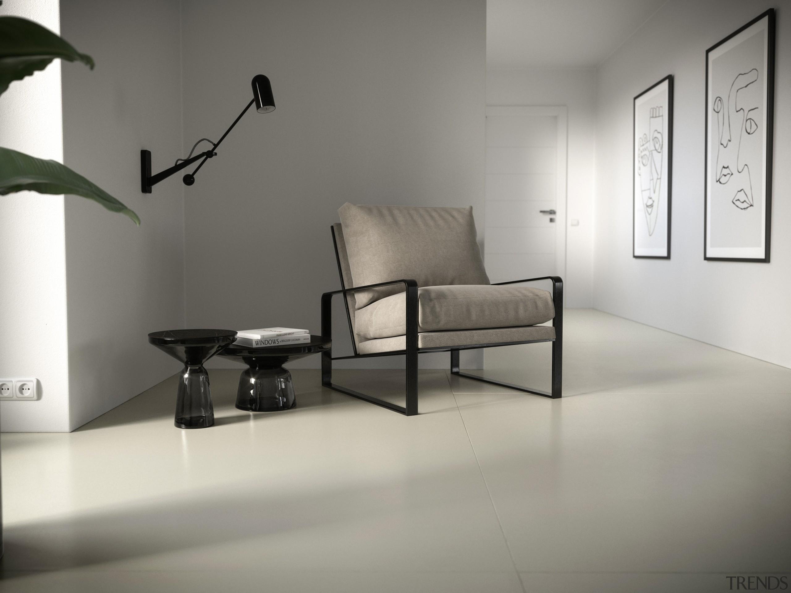 Dekton Portfolio Aeris has light tones with cream-coloured