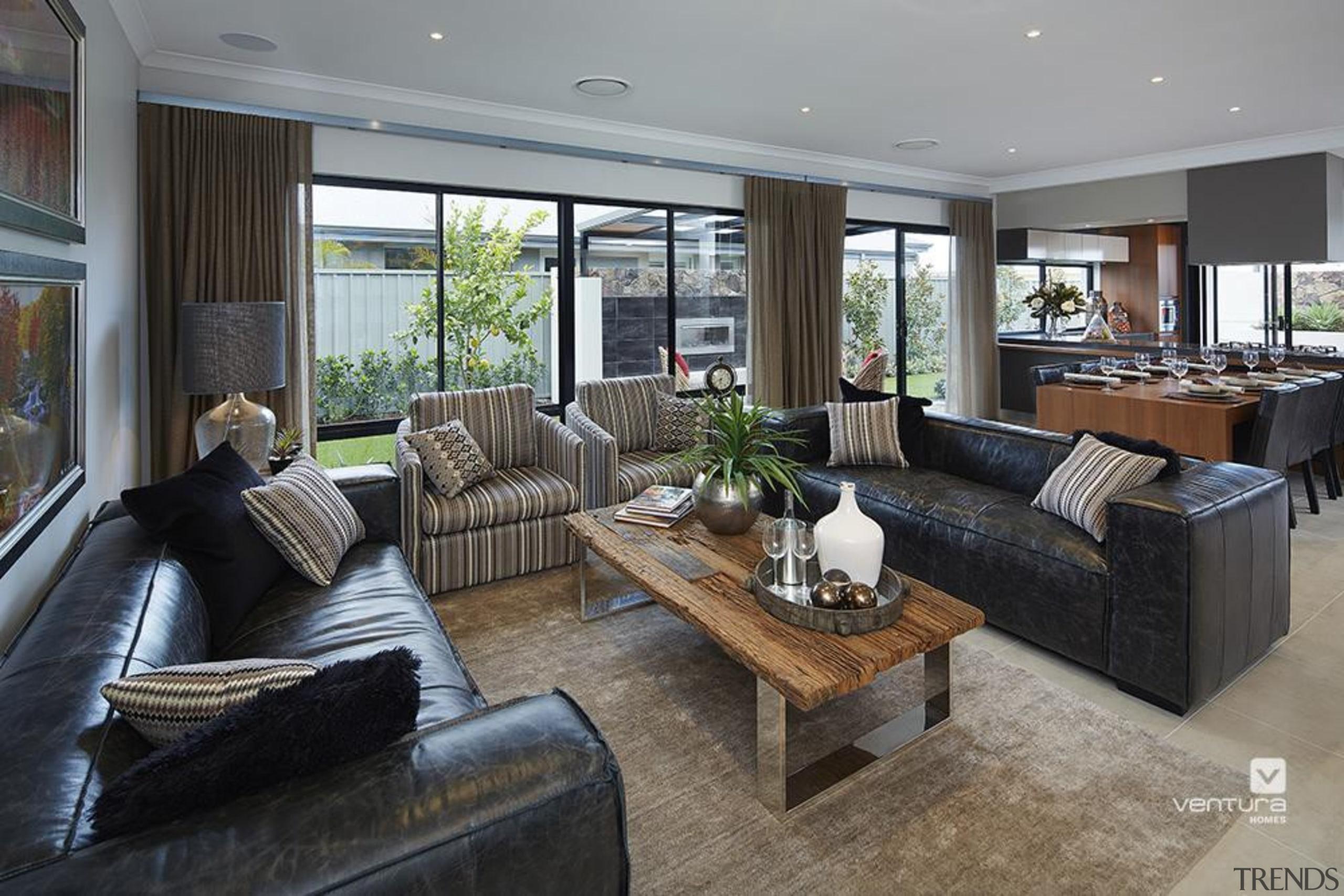 Living Room Design. - The Macquarie Display Home house, interior design, living room, property, real estate, room, gray, black