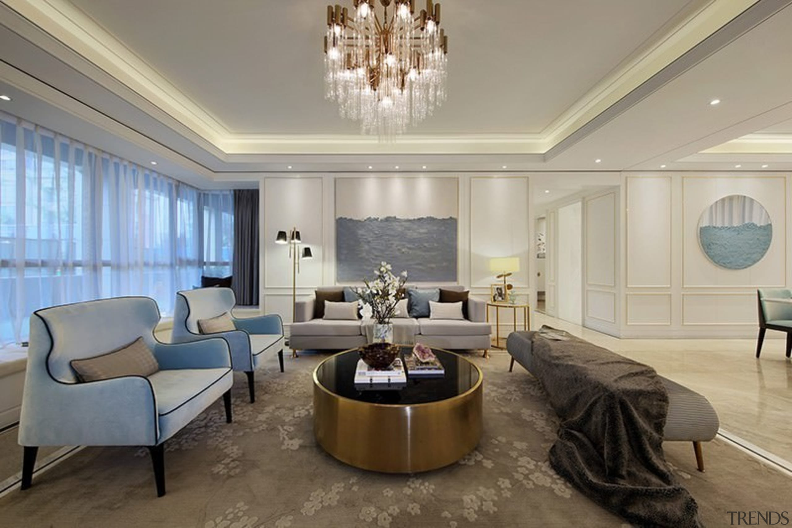 Designer: Li Jianmei Photography by Jianghe Architectural Photography ceiling, floor, home, interior design, living room, real estate, room, suite, wall, gray