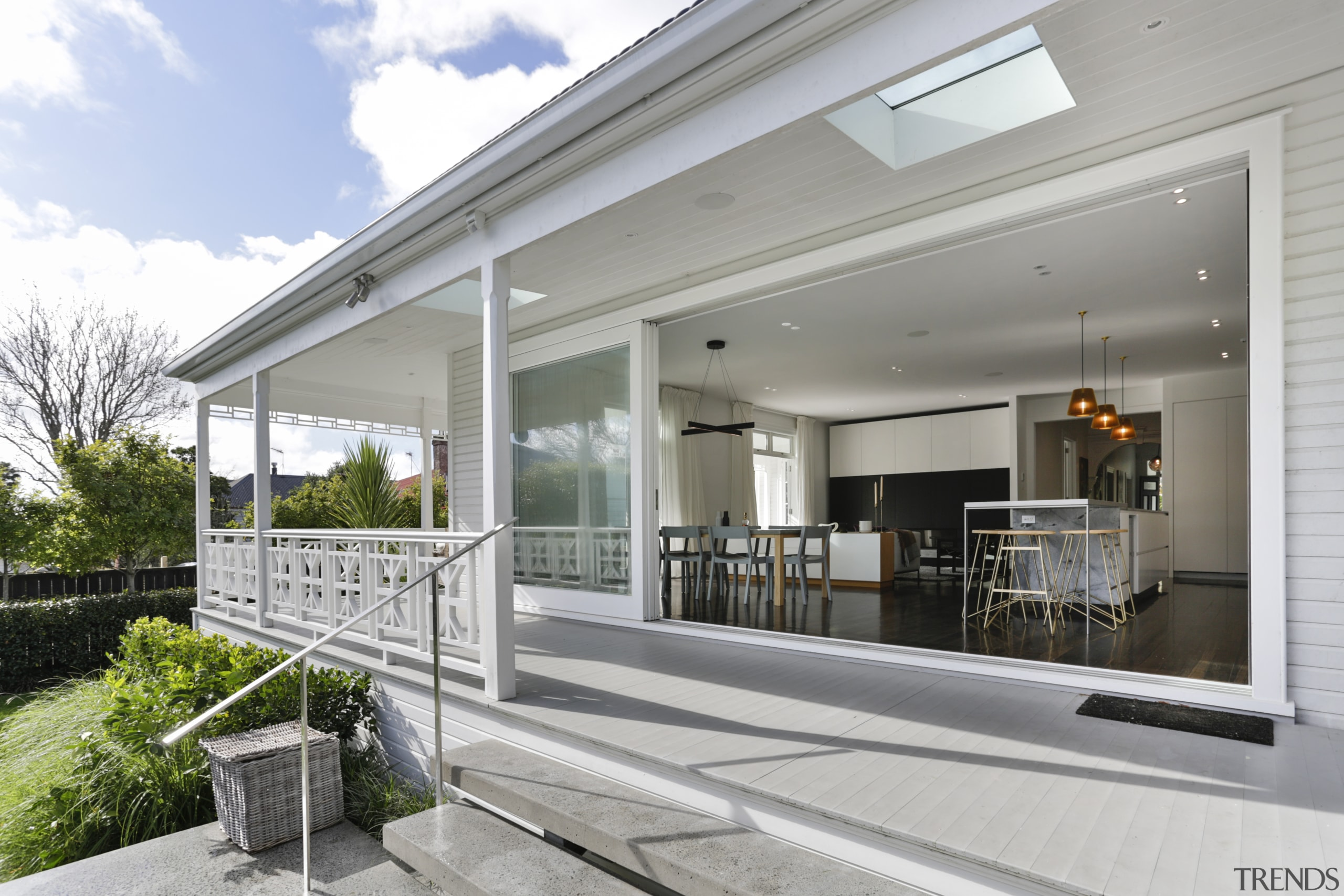 ​​​​​​​On this modernisation of a classic home, an home, house, property, window, gray, white, villa, renovation, Matt Brew Architect