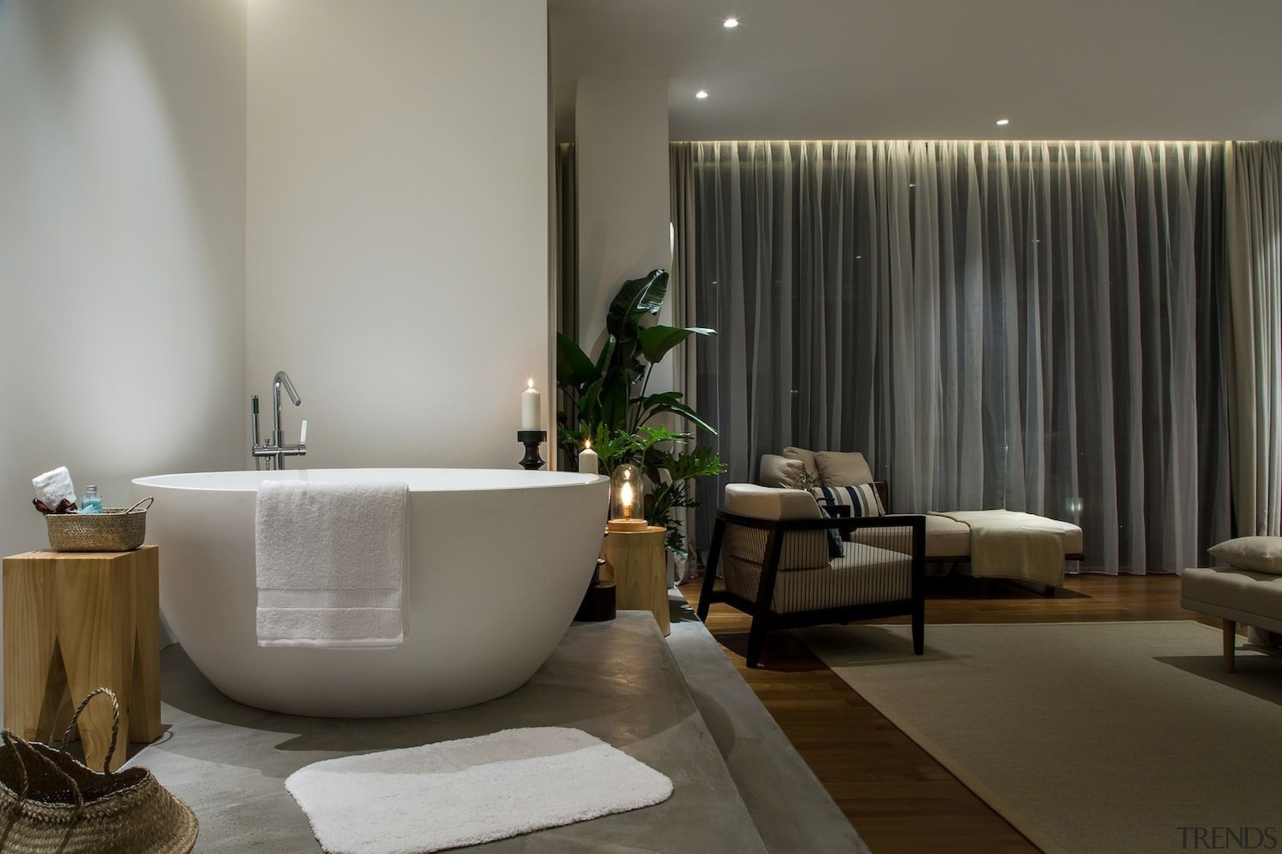 Fancy a relaxing soak in the tub before bathroom, interior design, plumbing fixture, room, gray