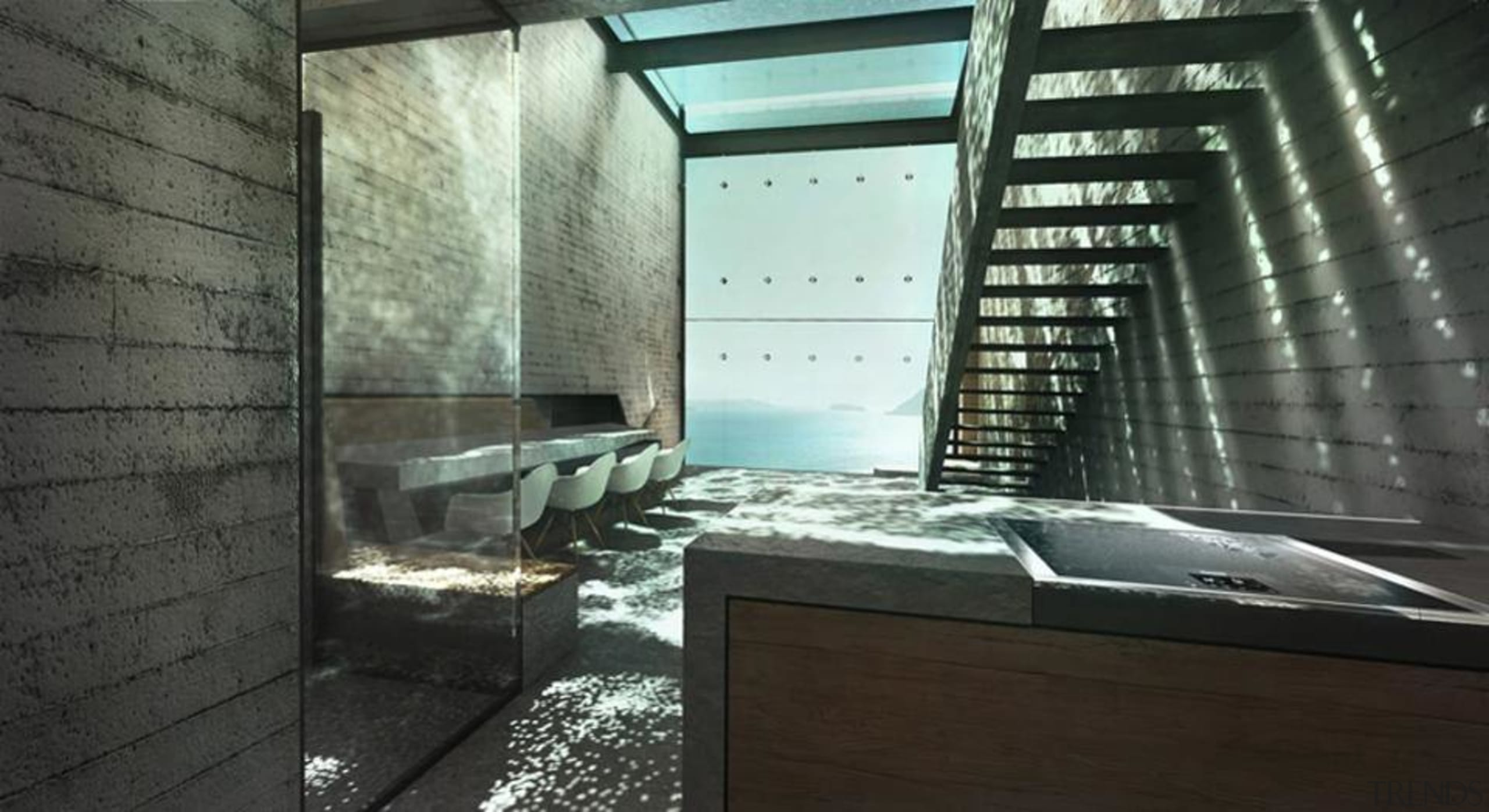 Casa Brutale: Images from LAAV architecture, daylighting, glass, interior design, black