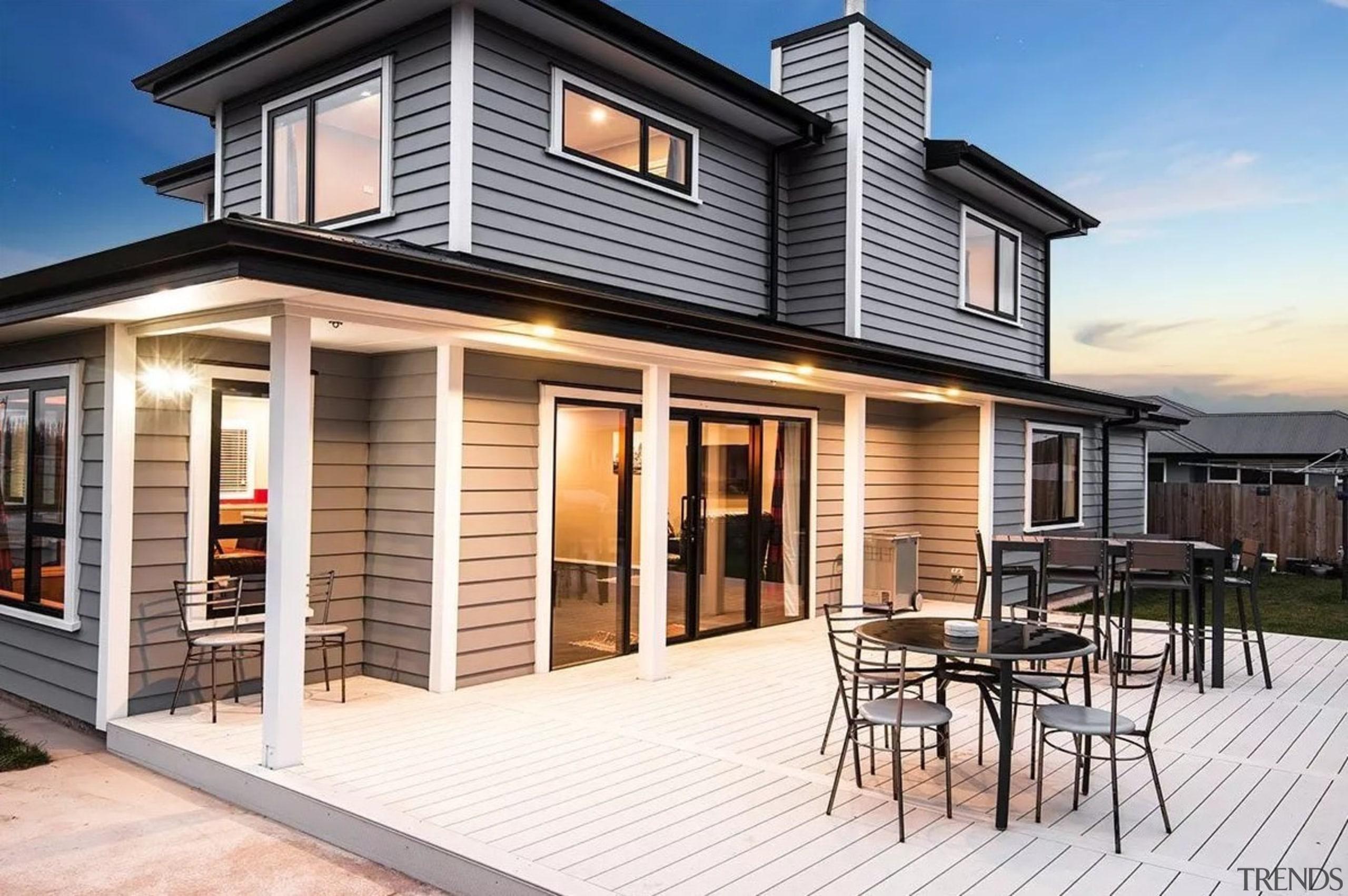 Envira bevel back weatherboards - Envira bevel back cottage, elevation, facade, home, house, property, real estate, siding, window, white