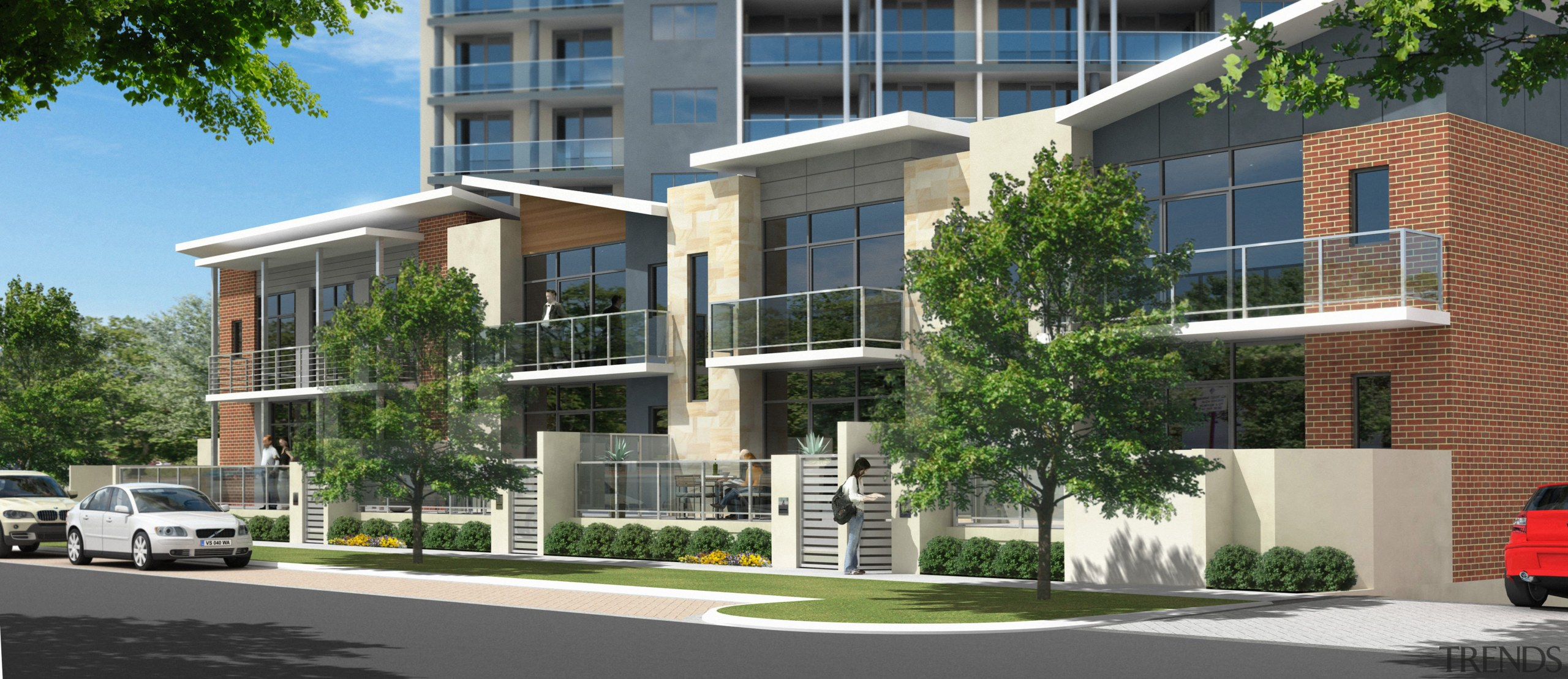 The Edge Apartments Will Introduce A Strong Vi Nt Architectural Form And Aesthetic To Victoria Park In Perth The Two Story Apartments Have Private