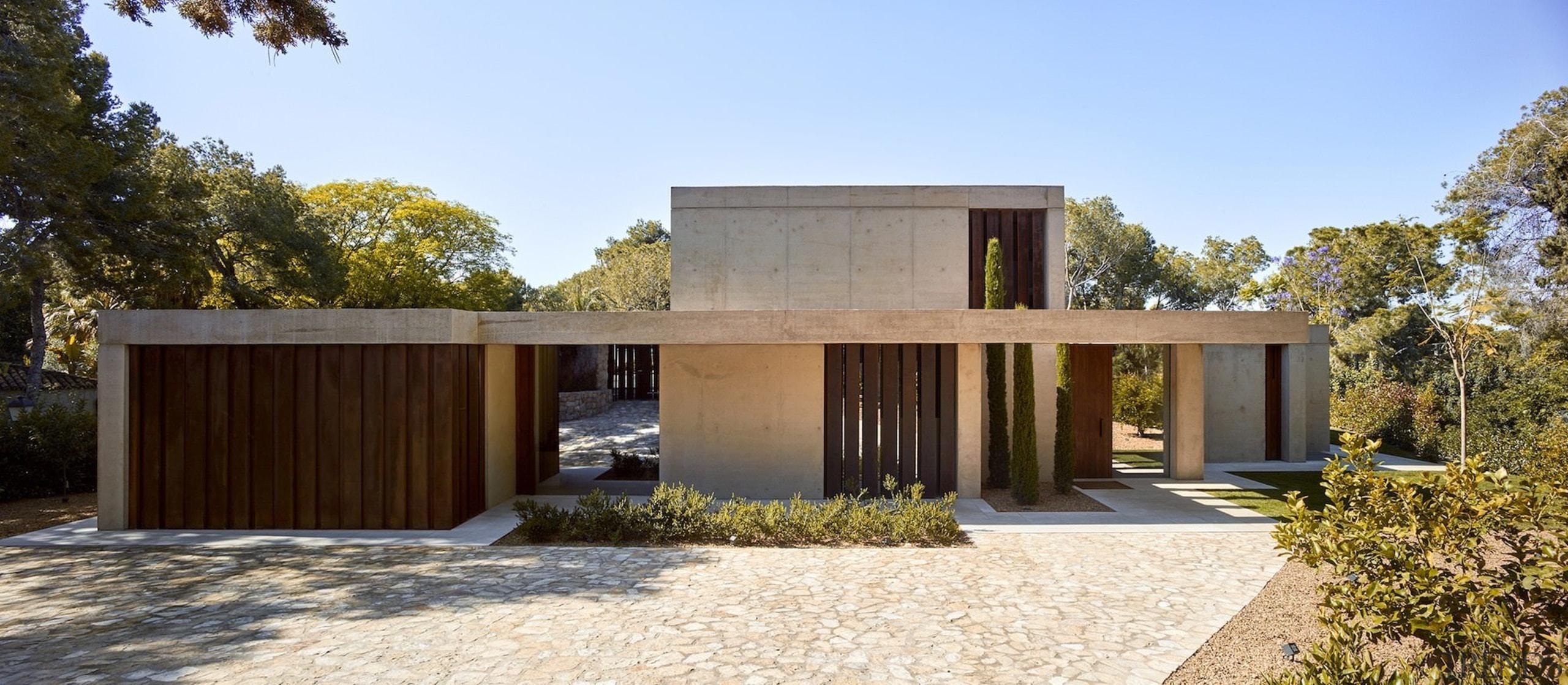 Architect: Ramón Esteve Estudio de Arquitectura architecture, estate, facade, home, house, property, real estate, teal