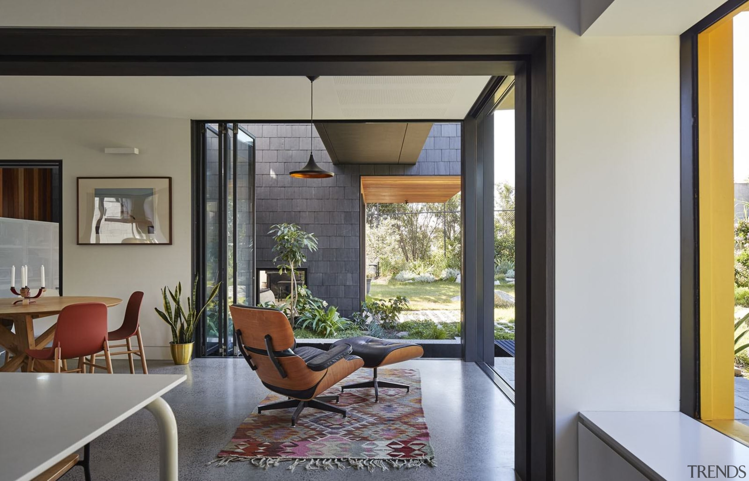 Architect: Austin Maynard ArchitectsPhotography by Peter Bennetts architecture, door, house, interior design, living room, property, real estate, window, gray