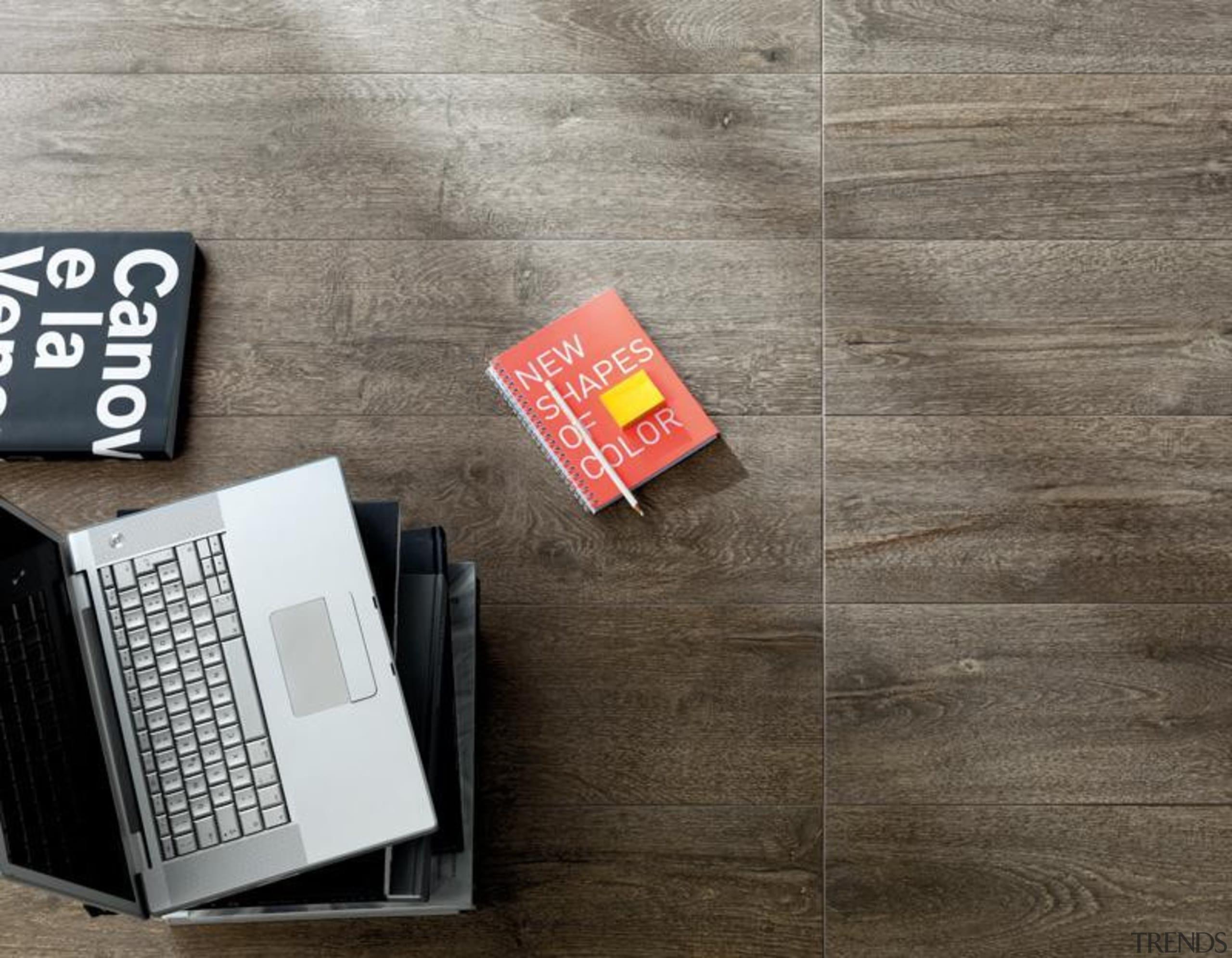 Bioplank fume interior wood look floor tiles. - floor, flooring, font, product design, gray
