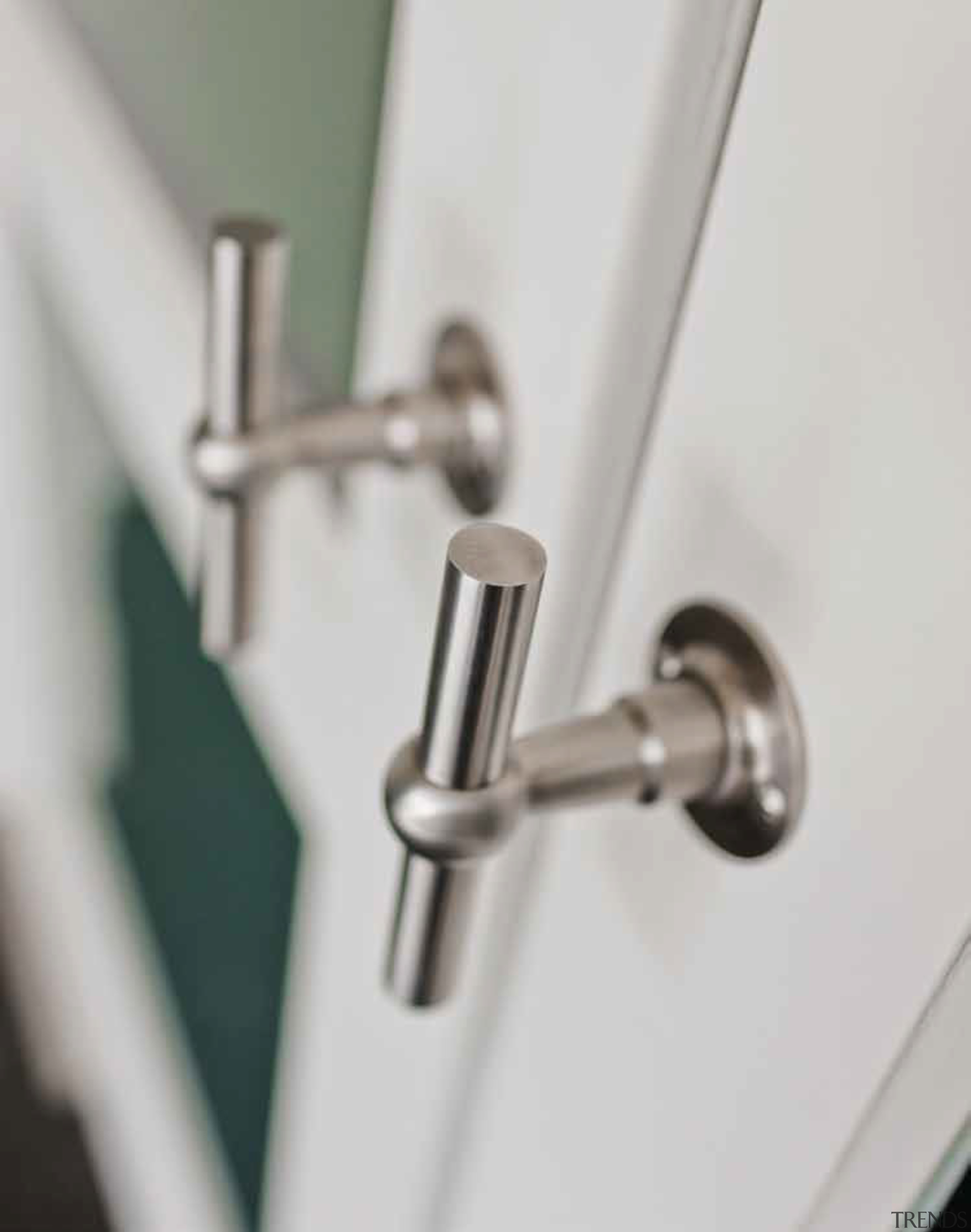 FVT110/52 - Solid Unsprung Lever Handle Attached to plumbing fixture, product design, tap, gray