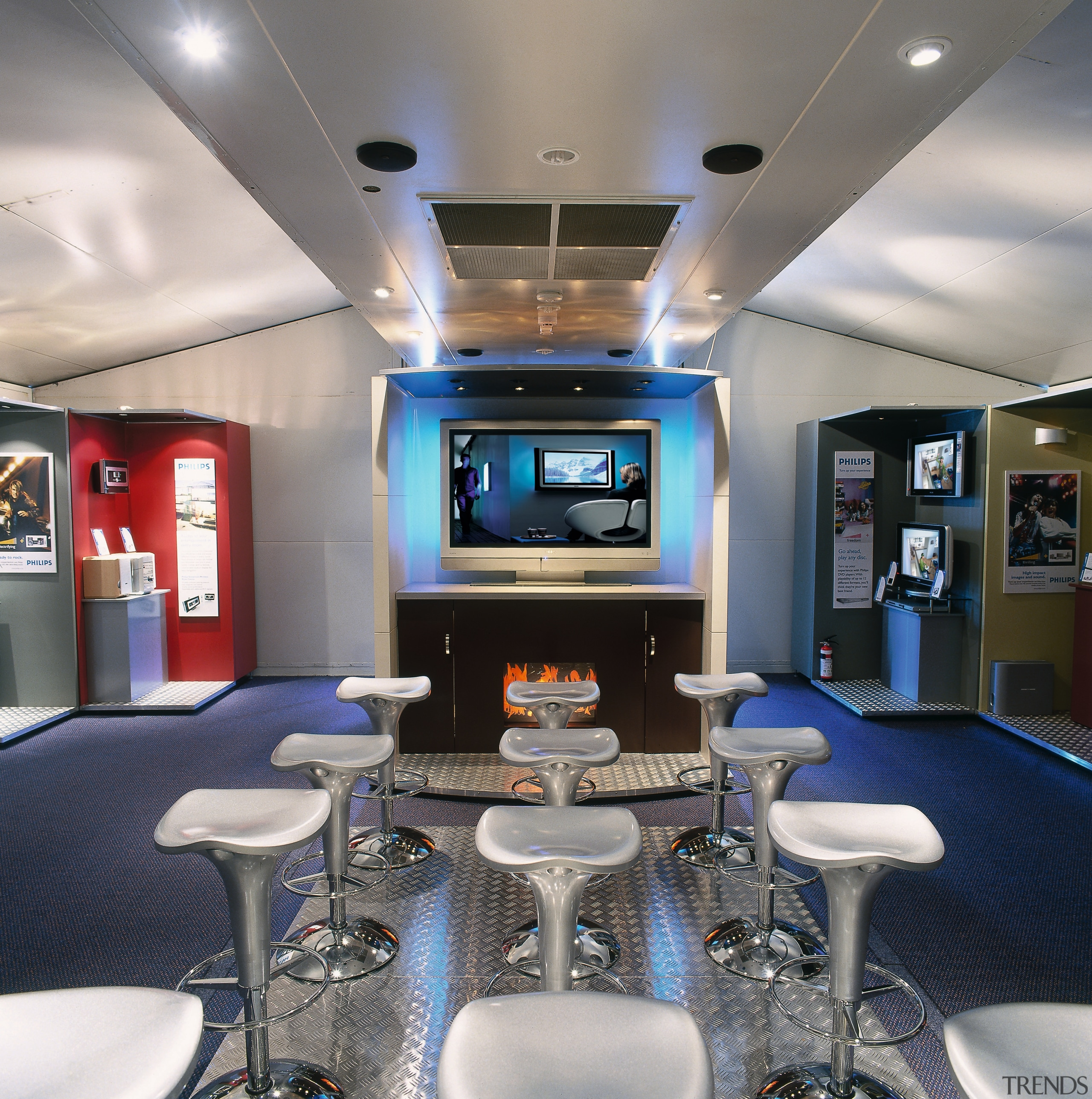 view of the phillips elctronic show room for interior design, gray