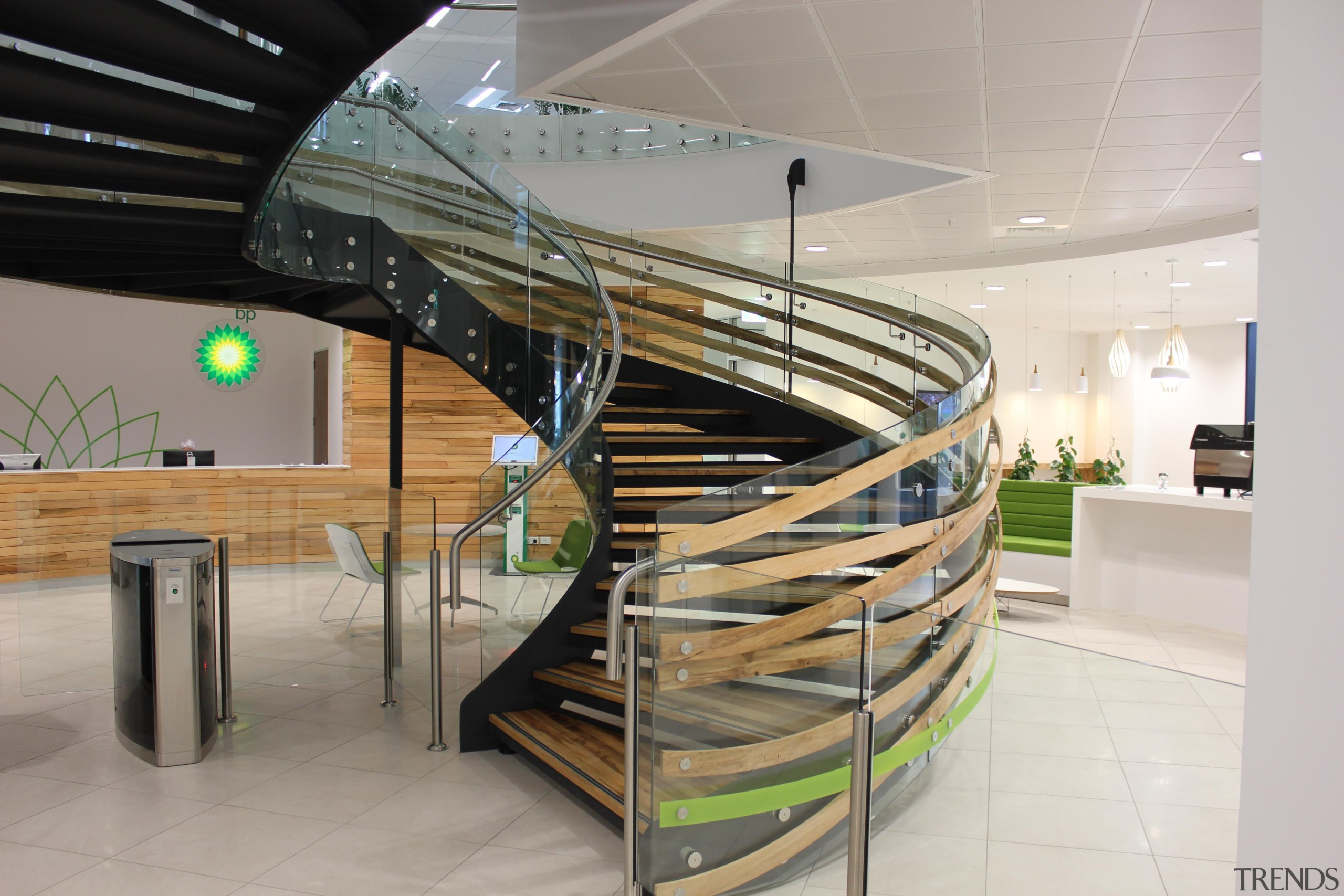 Spiral Staircase Glass Balustrade Trends