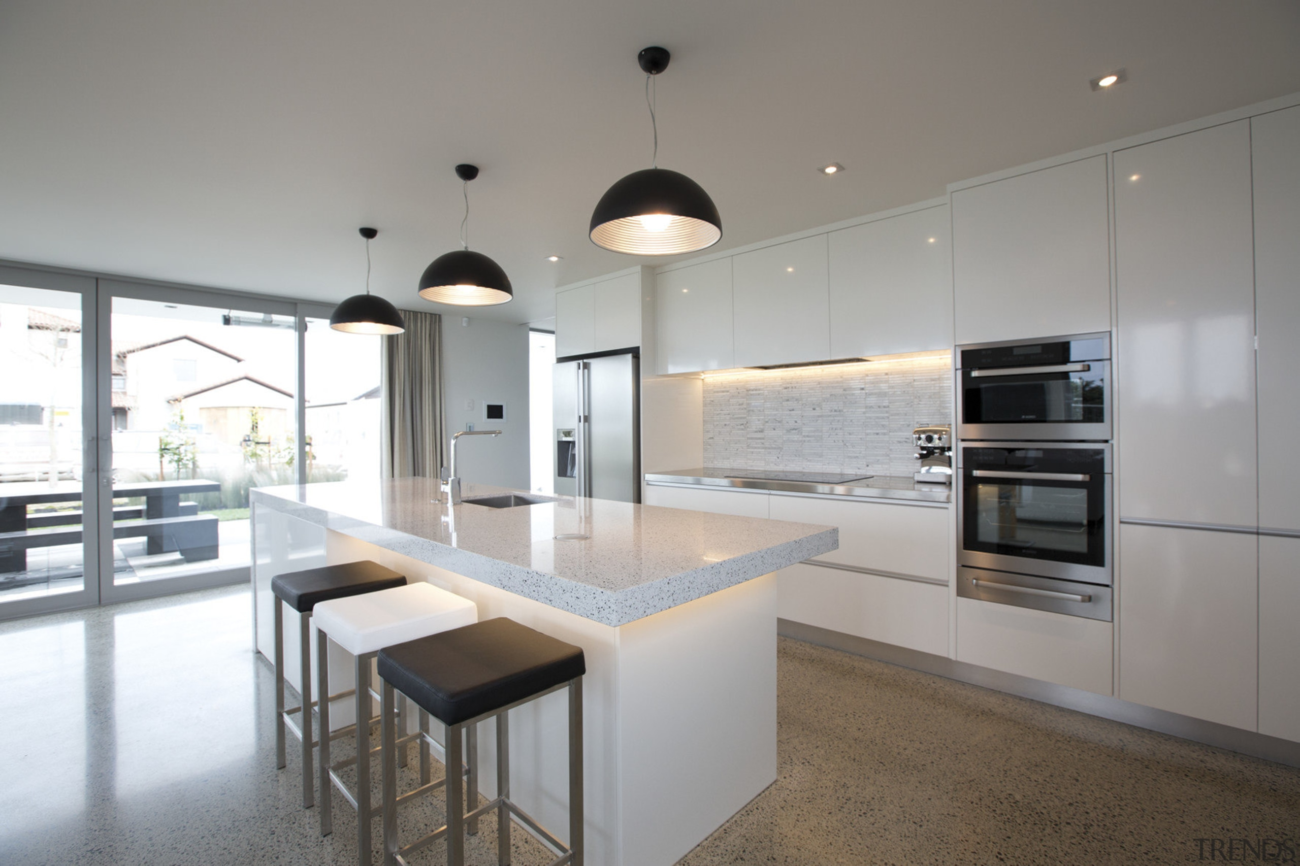 The Life at Home street of show homes architecture, countertop, cuisine classique, interior design, kitchen, real estate, gray