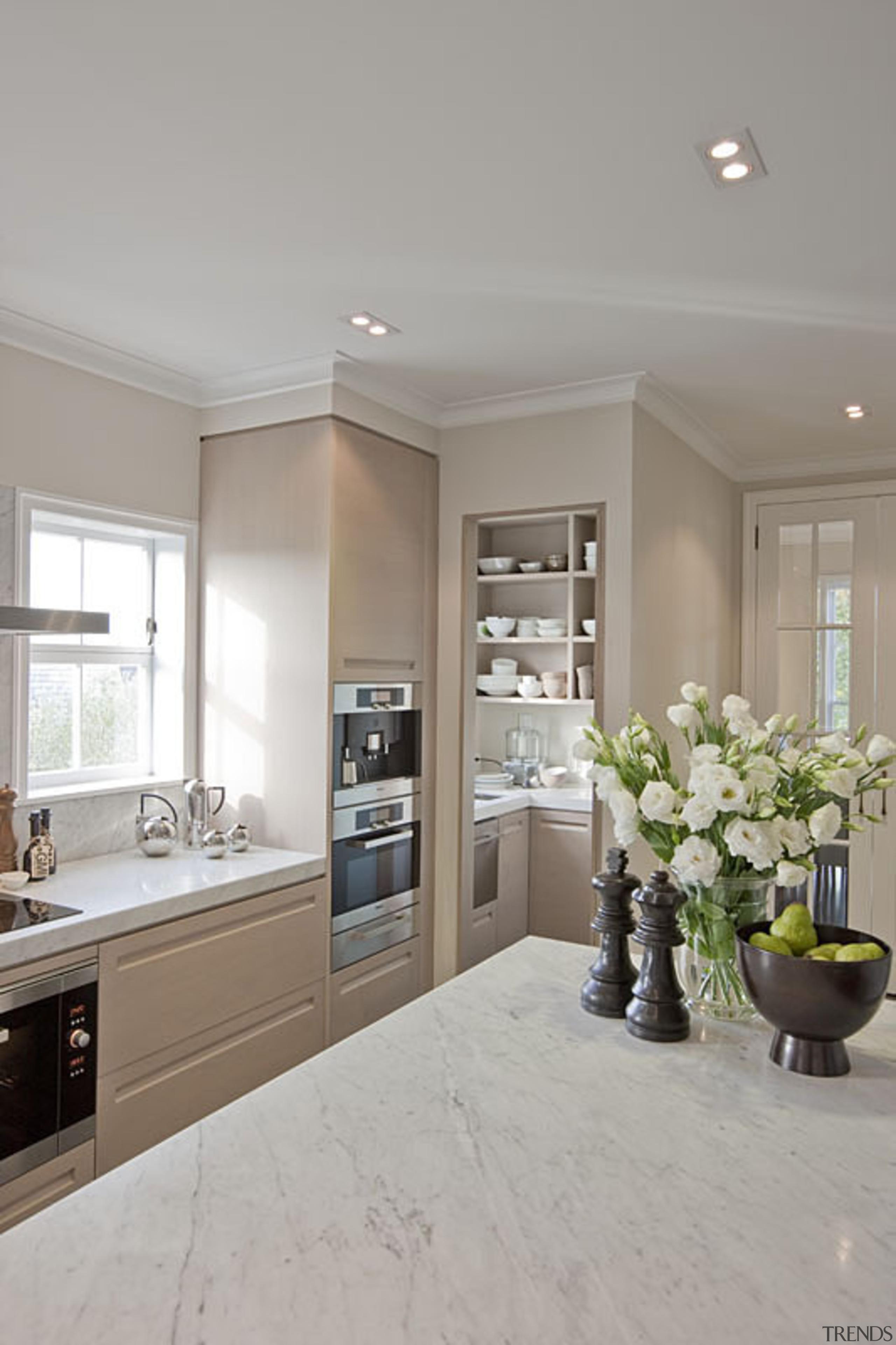 Remuera - countertop | cuisine classique | floor countertop, cuisine classique, floor, flooring, home, interior design, kitchen, real estate, room, window, gray