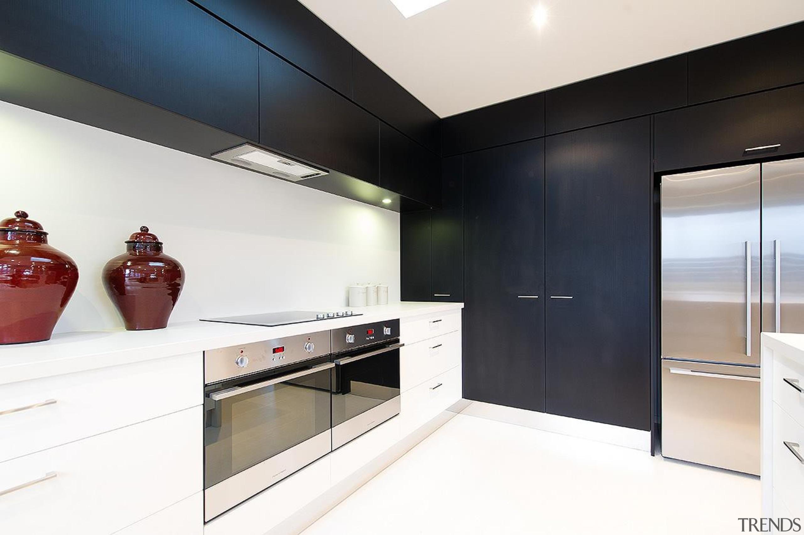 For more information, please visit www.gjgardner.co.nz countertop, interior design, kitchen, room, white, black