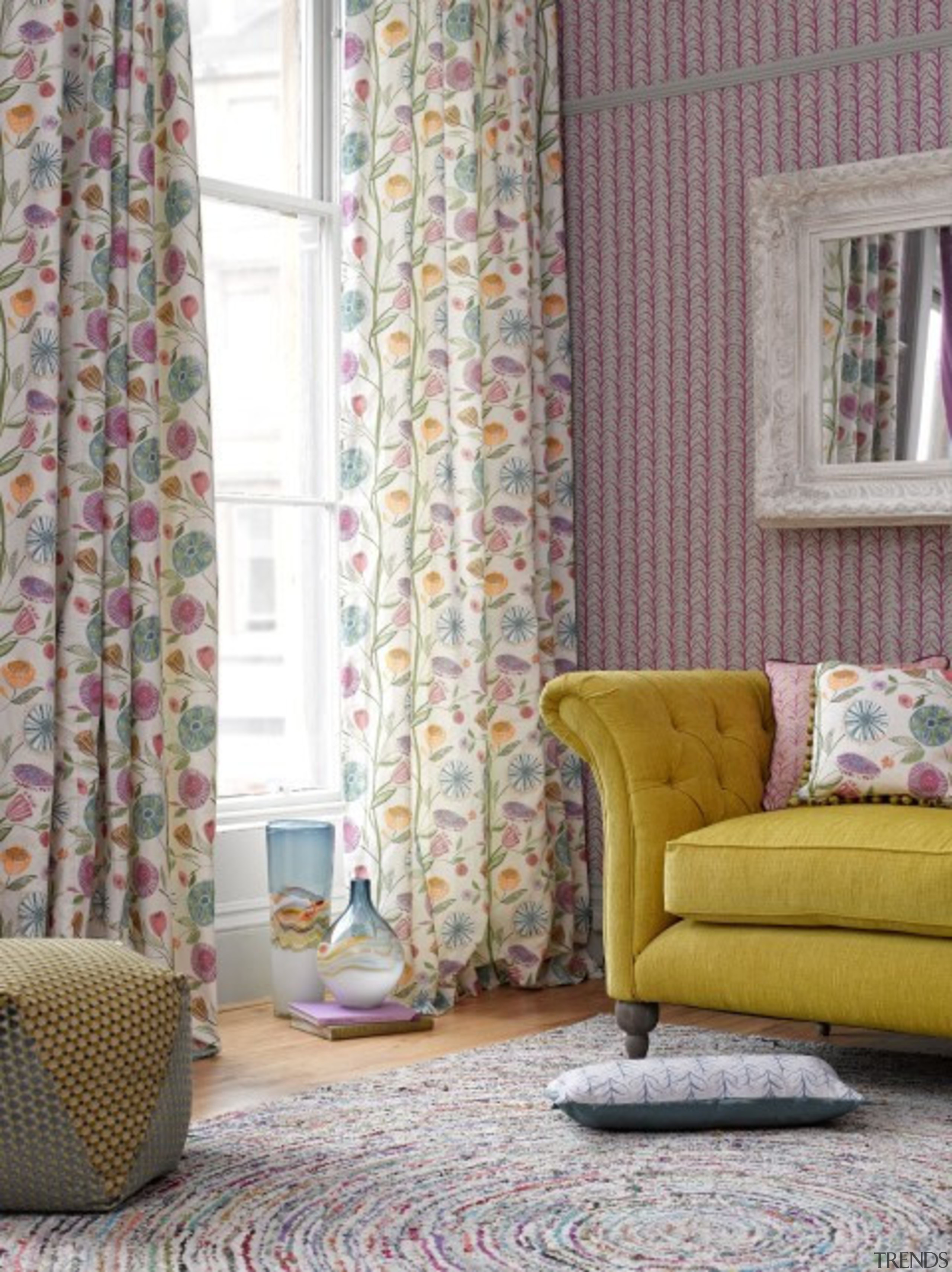 Check out more. curtain, home, interior design, living room, room, textile, wall, window, window covering, window treatment, gray