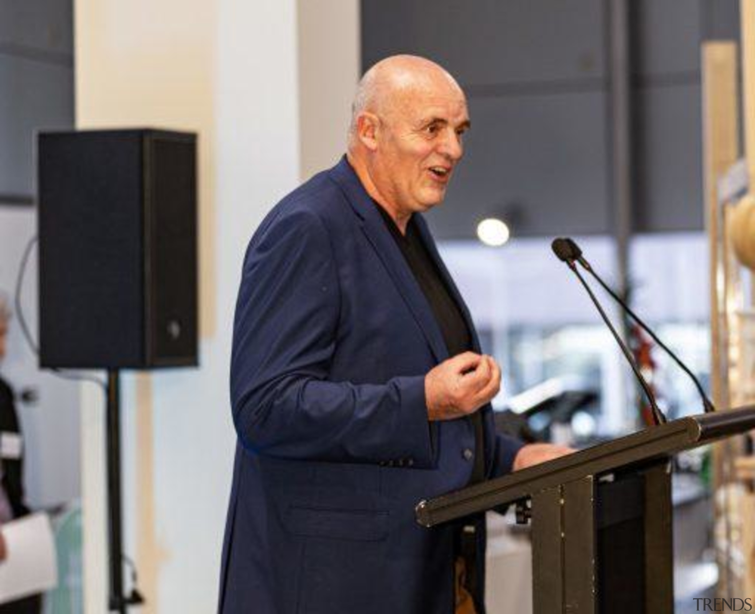 2019 TIDA New Zealand Homes presentation evening event, orator, public speaking, speech, gray