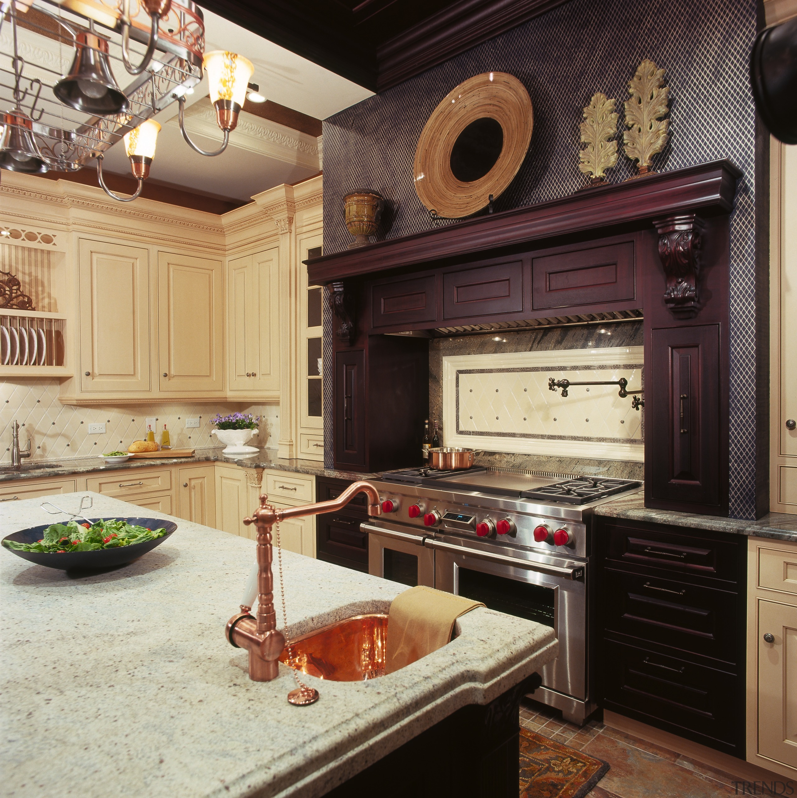 A View Of This Traditional Kitchen Featuring Ovation Cabinetry, Countertop,  Cuisine Classique, Interior