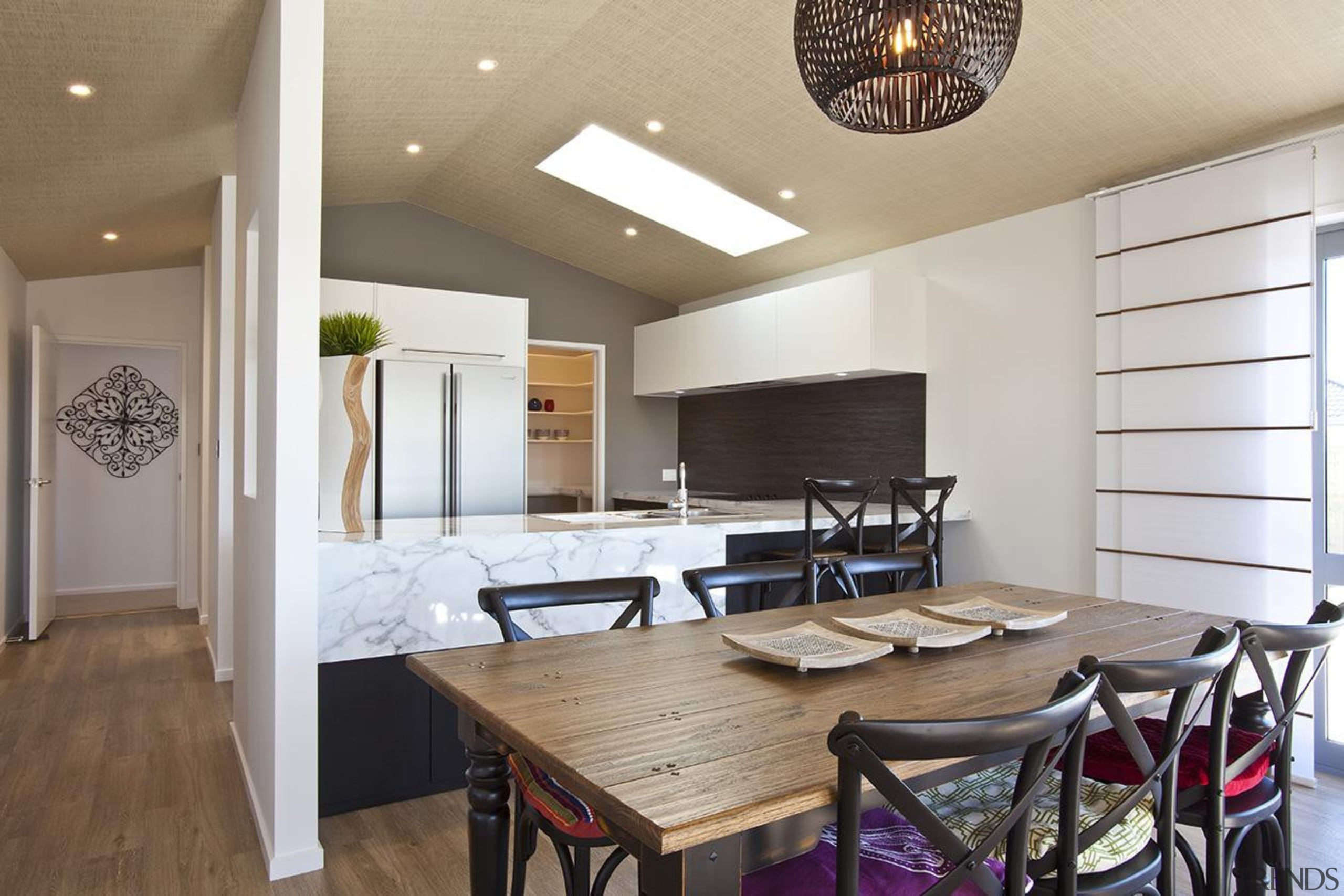 For more information, please visit www.gjgardner.co.nz ceiling, dining room, interior design, real estate, table, gray