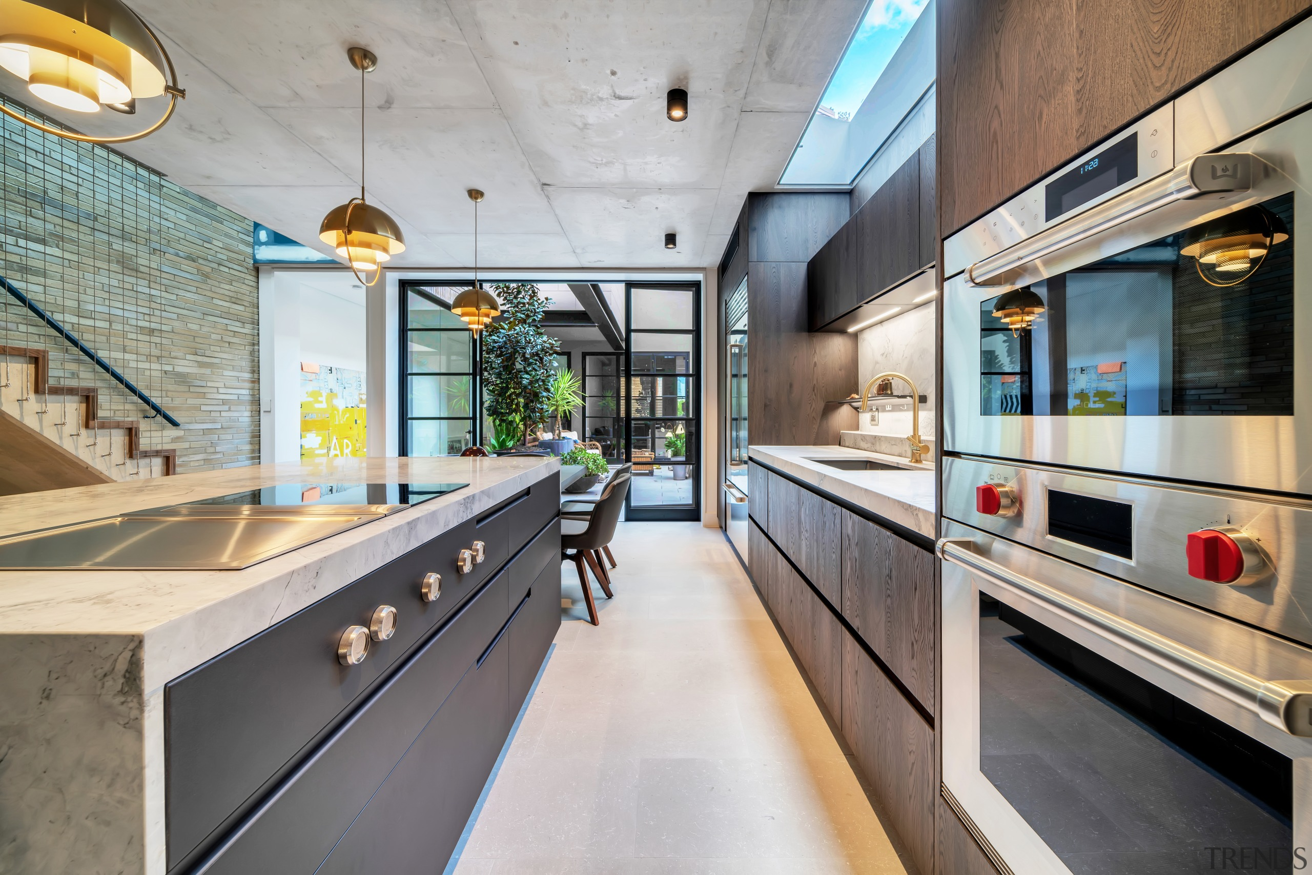 This contemporary kitchen in a reworked terrace house
