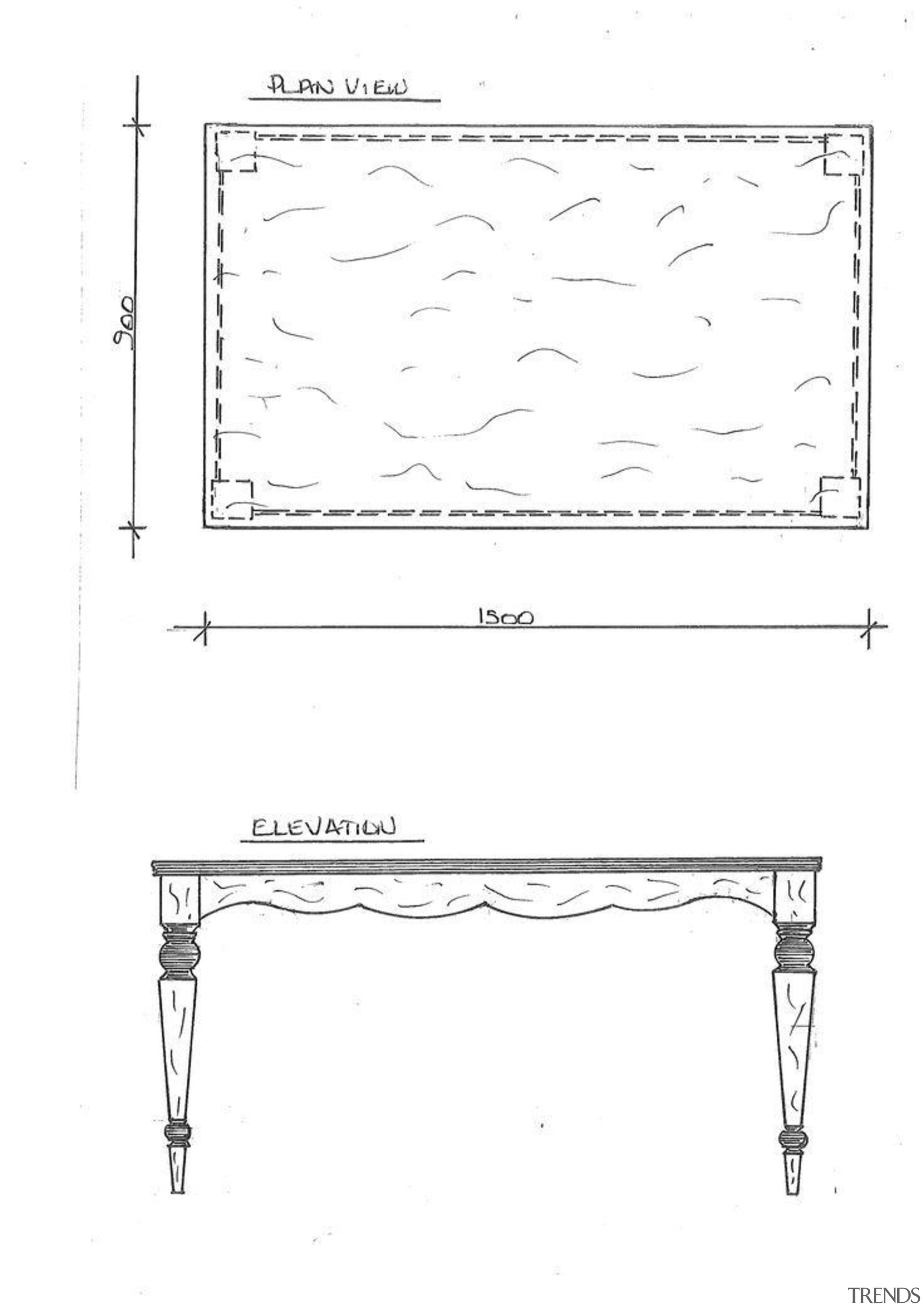 by Mary Hogben - by Mary Hogben - angle, area, black and white, design, diagram, drawing, font, furniture, line, line art, product, product design, rectangle, structure, table, text, white