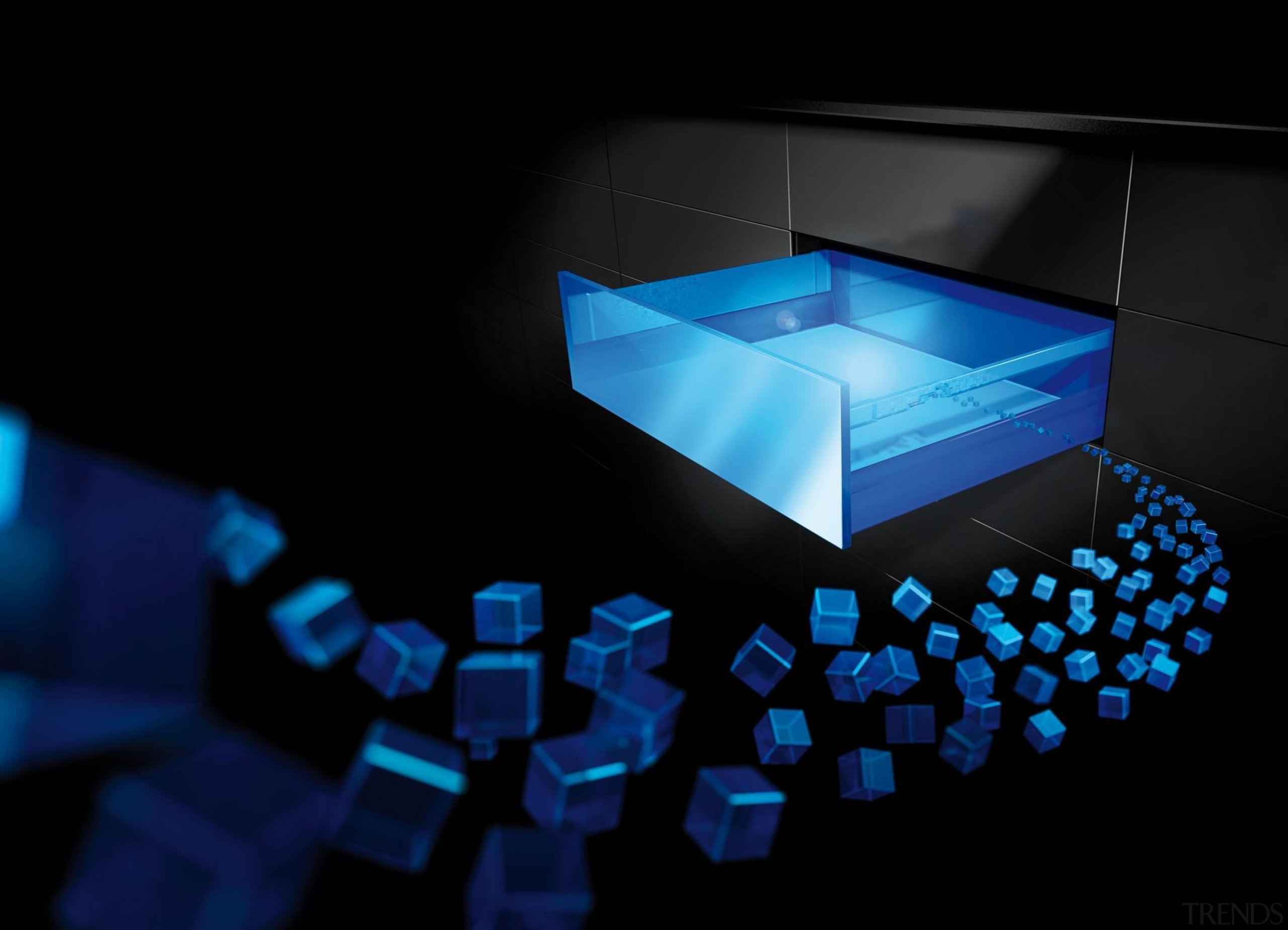 The ArciTech platform concept provides the capability of blue, computer wallpaper, light, lighting, product design, technology, black