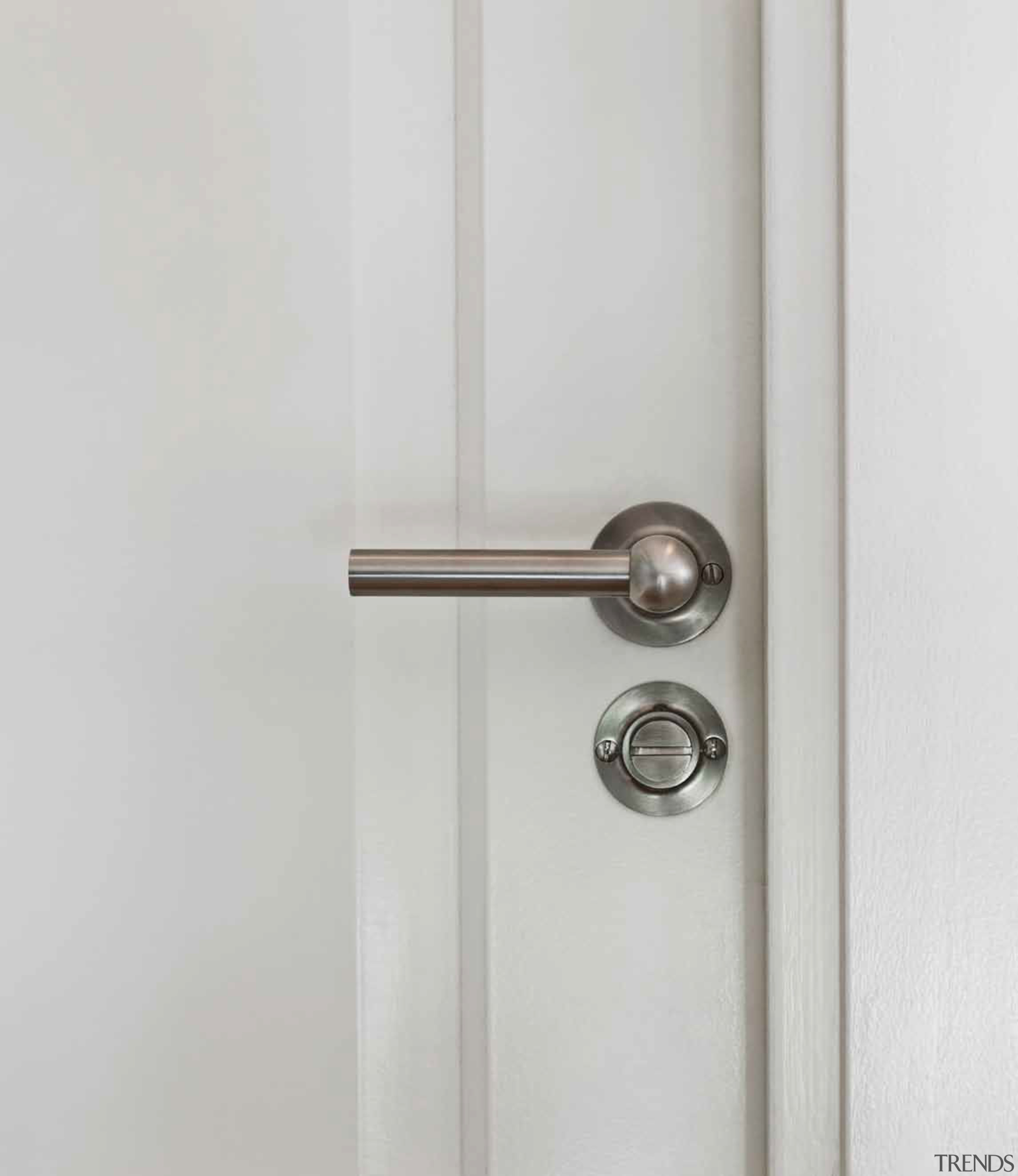 FVL85/40 - Solid Unsprung Lever Handle Attached to door handle, hinge, lock, product design, white, gray