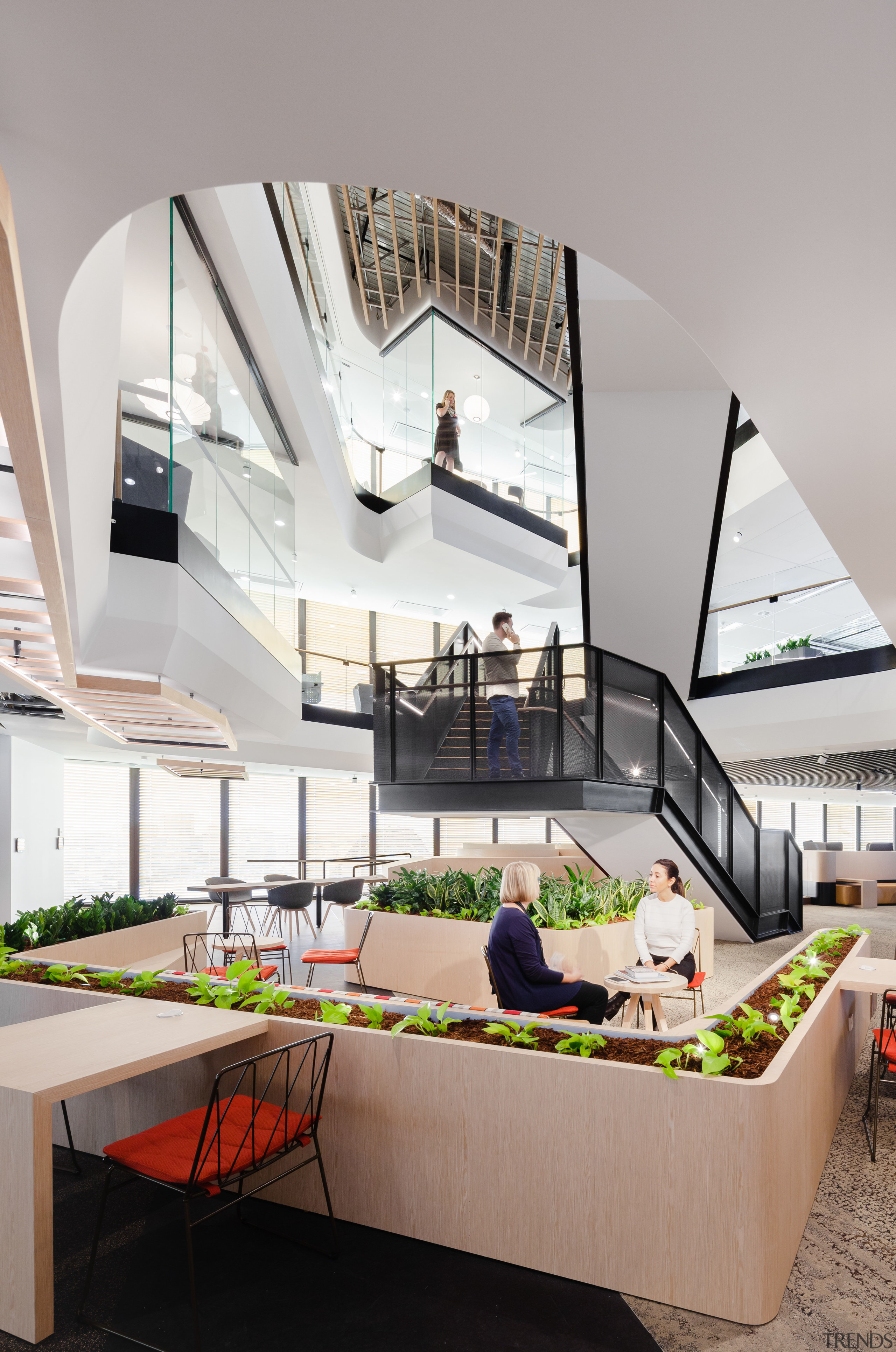 Mirvacs Sydney head office has a strong sculptural apartment, architecture, daylighting, house, interior design, mixed use, product design, gray
