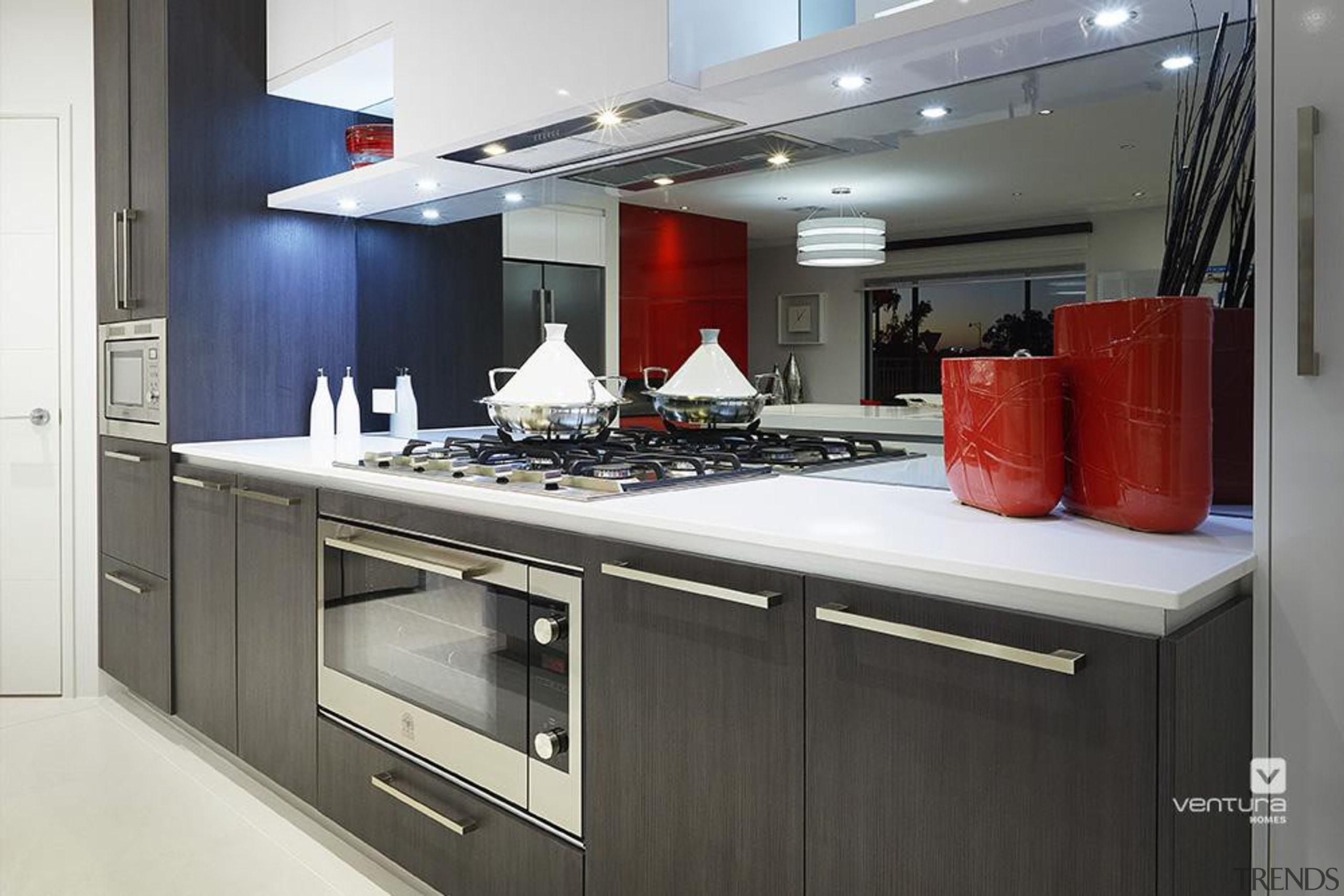 Kitchen design. - The Montrose Display Home - countertop, interior design, kitchen, black, gray, white