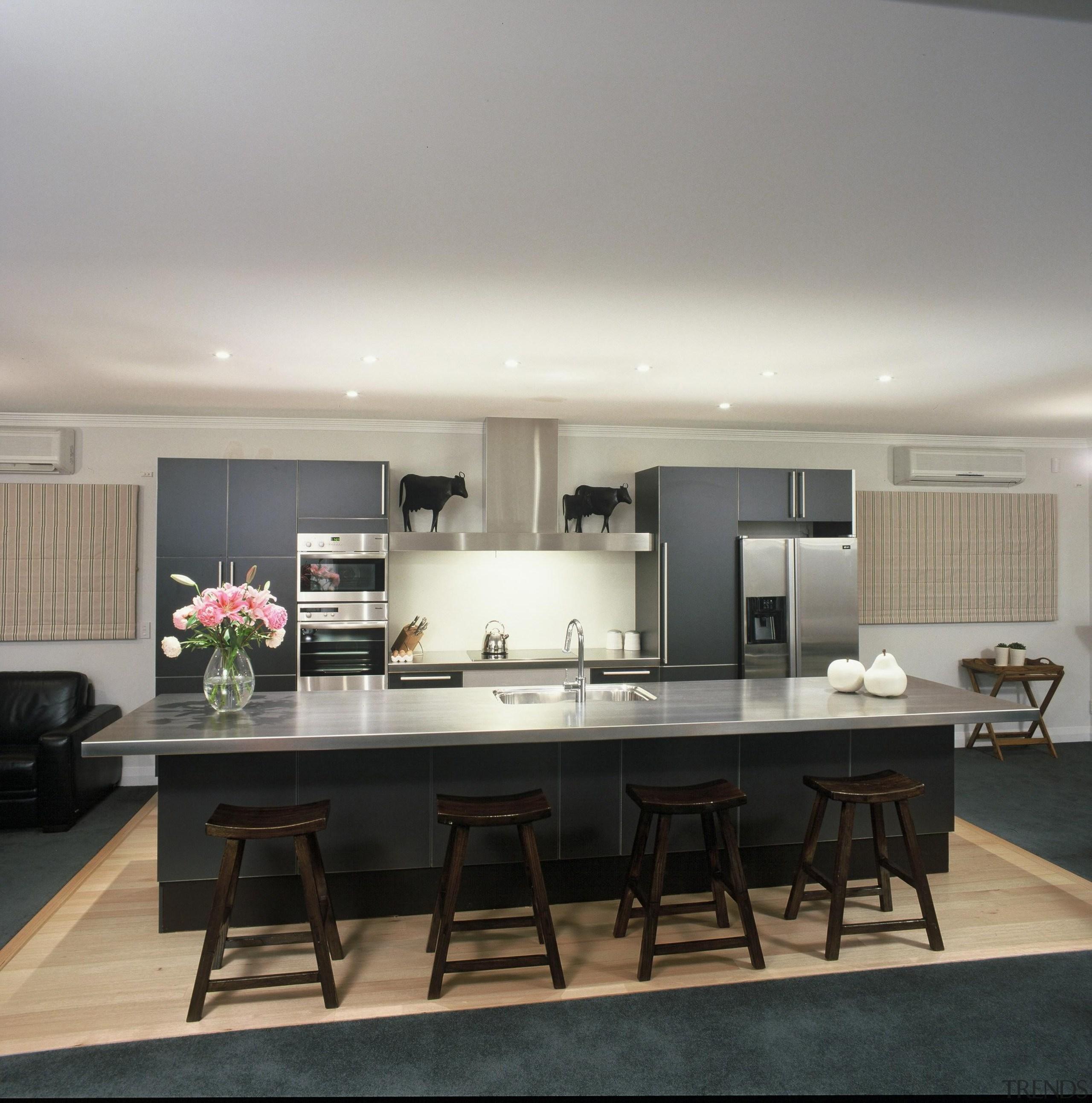 Woburn Kitchen - Woburn Kitchen - ceiling | ceiling, countertop, interior design, kitchen, table, gray, black