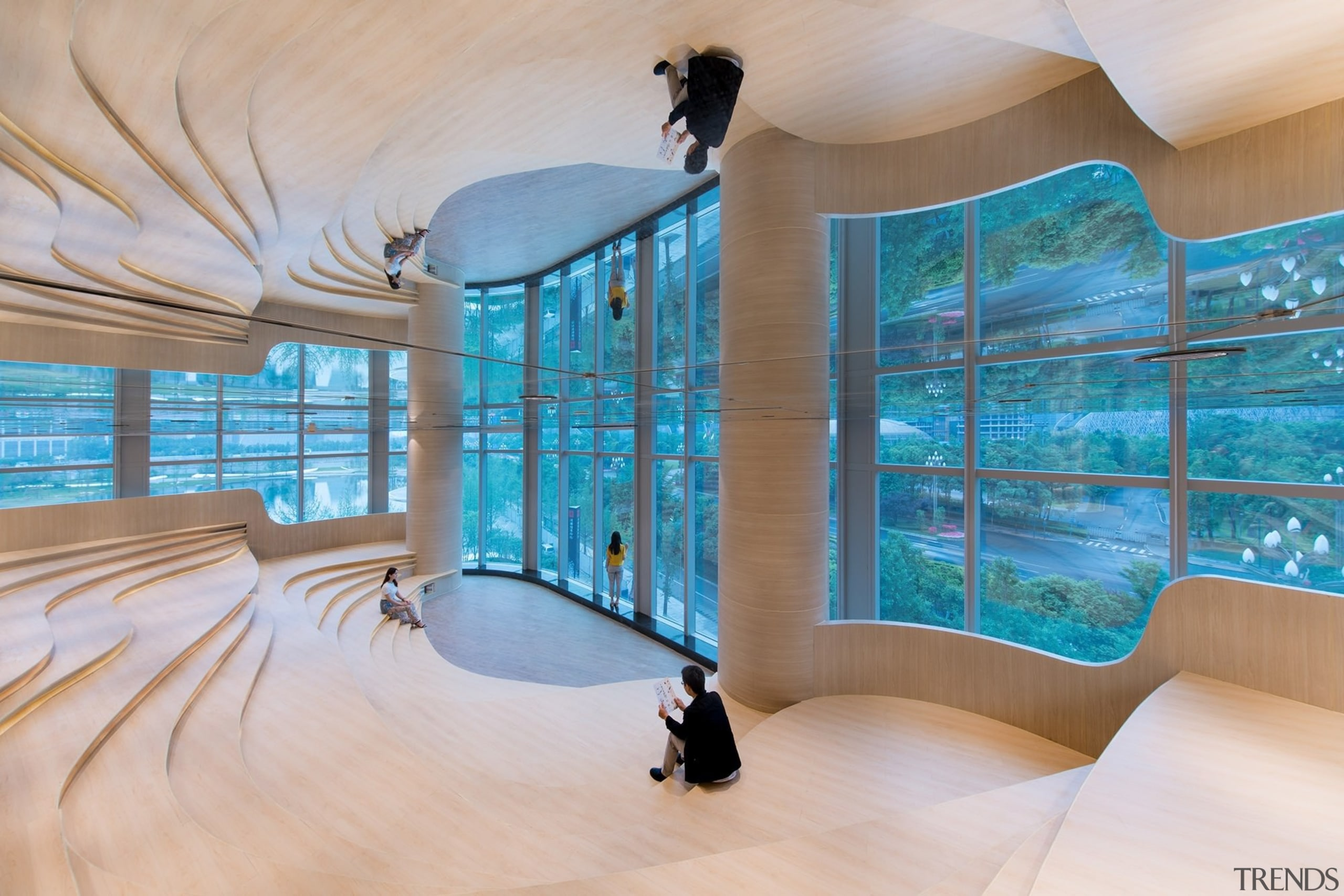Architect: X+LivingPhotography by Shao Feng architecture, ceiling, estate, interior design, leisure, leisure centre, real estate, swimming pool, wall, gray, teal