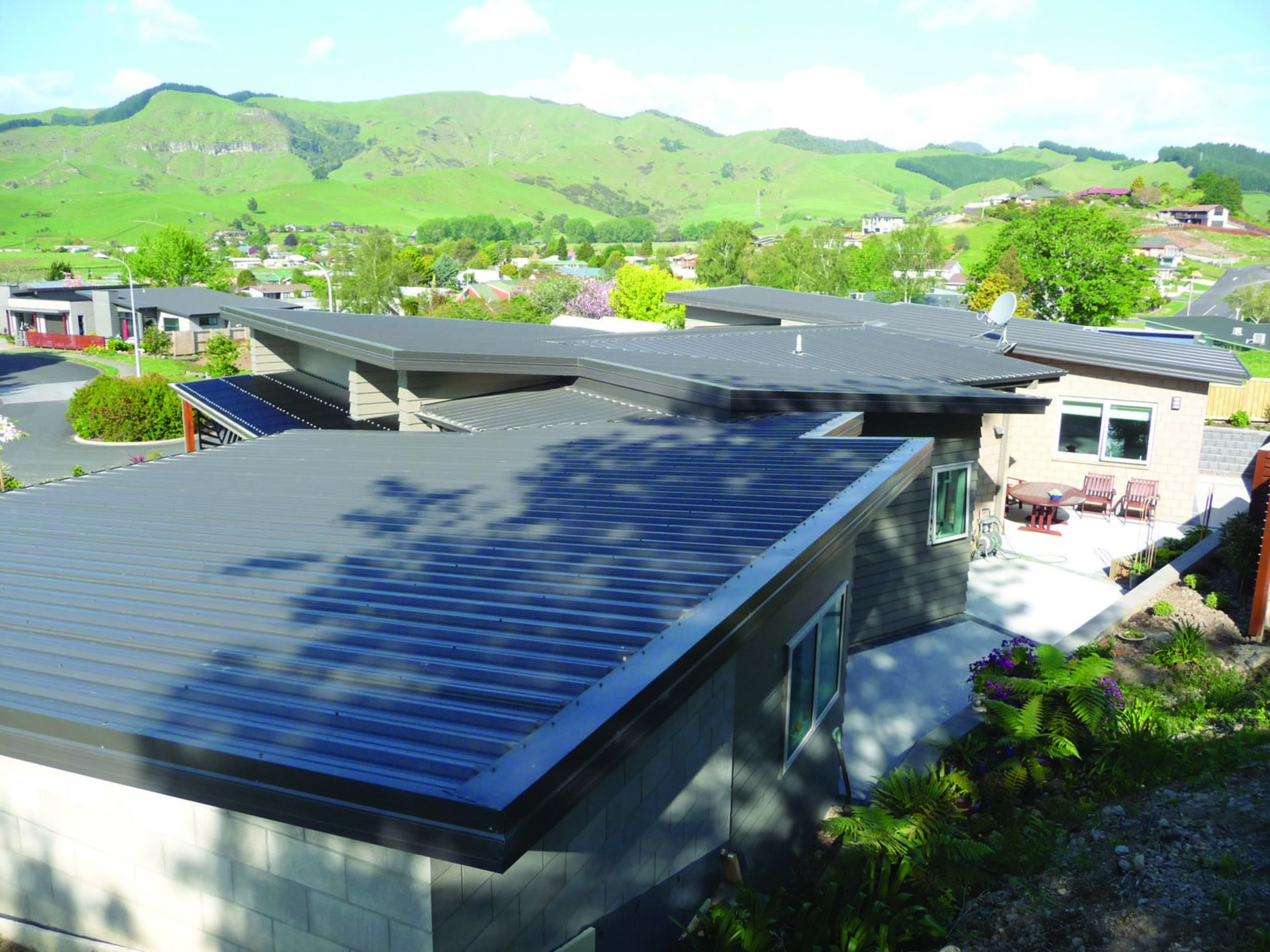Elens Home - Syleline Iron Sand - Roof daylighting, energy, house, leisure, outdoor structure, real estate, roof, solar energy, solar power, water, white