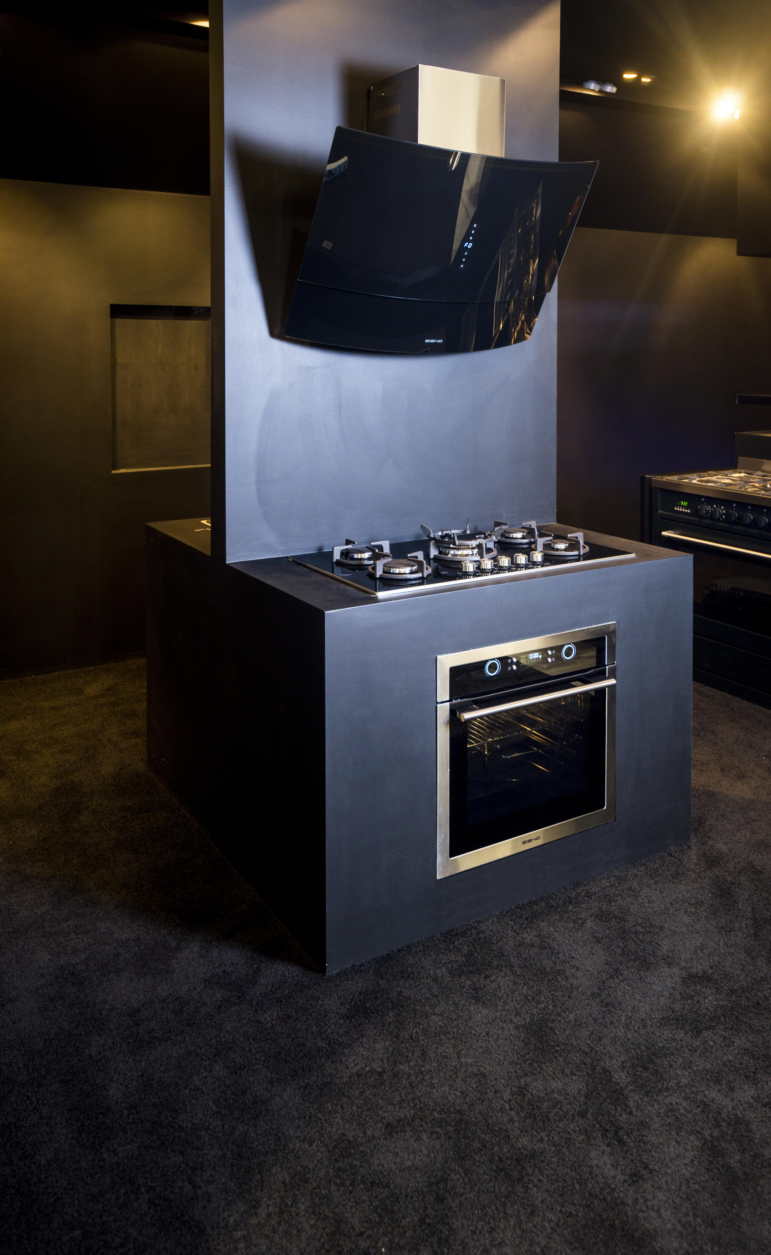Eisno Lifetech Appliances is an international company focused floor, flooring, furniture, hearth, home appliance, interior design, kitchen stove, product design, table, black