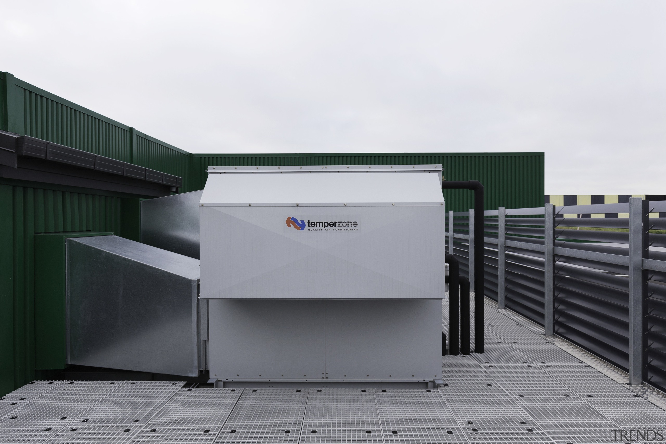 Custom air conditioning solutions were supplied for the architecture, facade, product, white