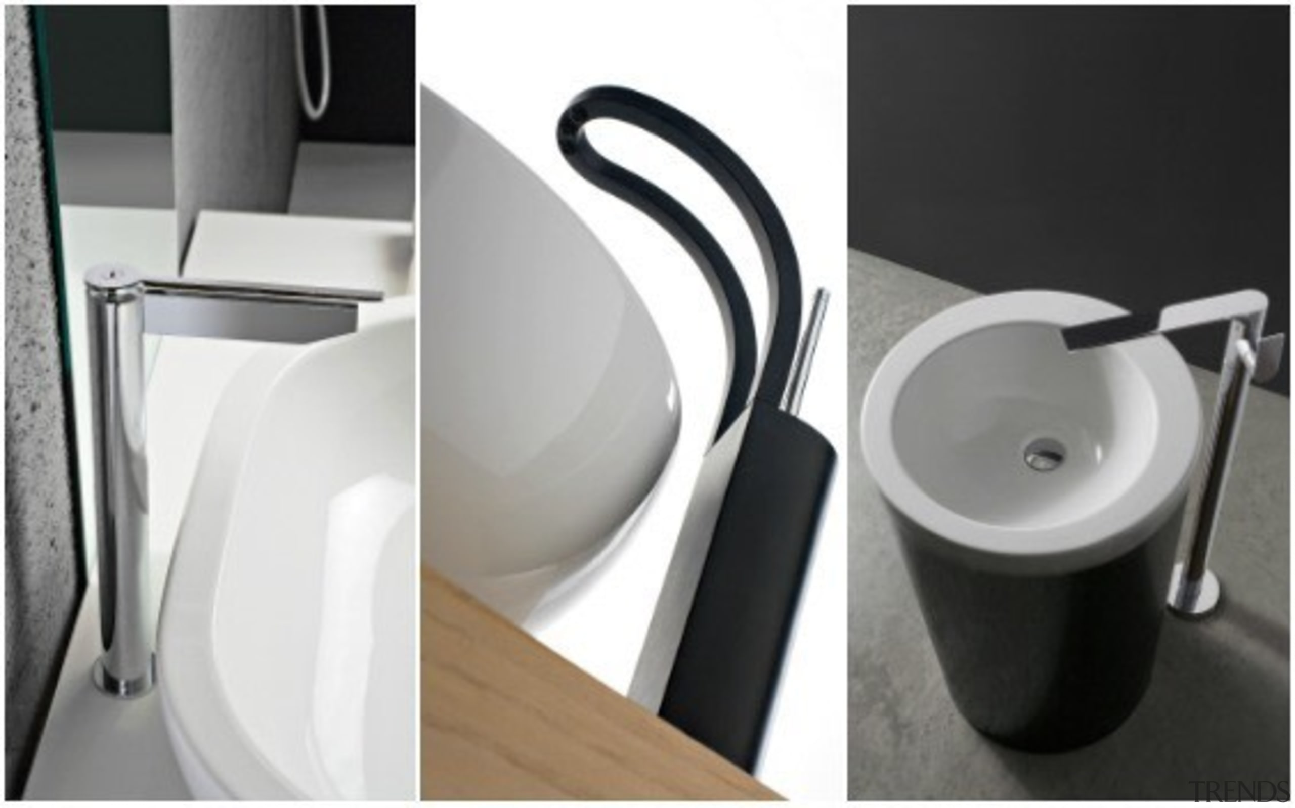Trenz - bathroom | plumbing fixture | product bathroom, plumbing fixture, product, product design, sink, small appliance, tap, toilet seat, white, black