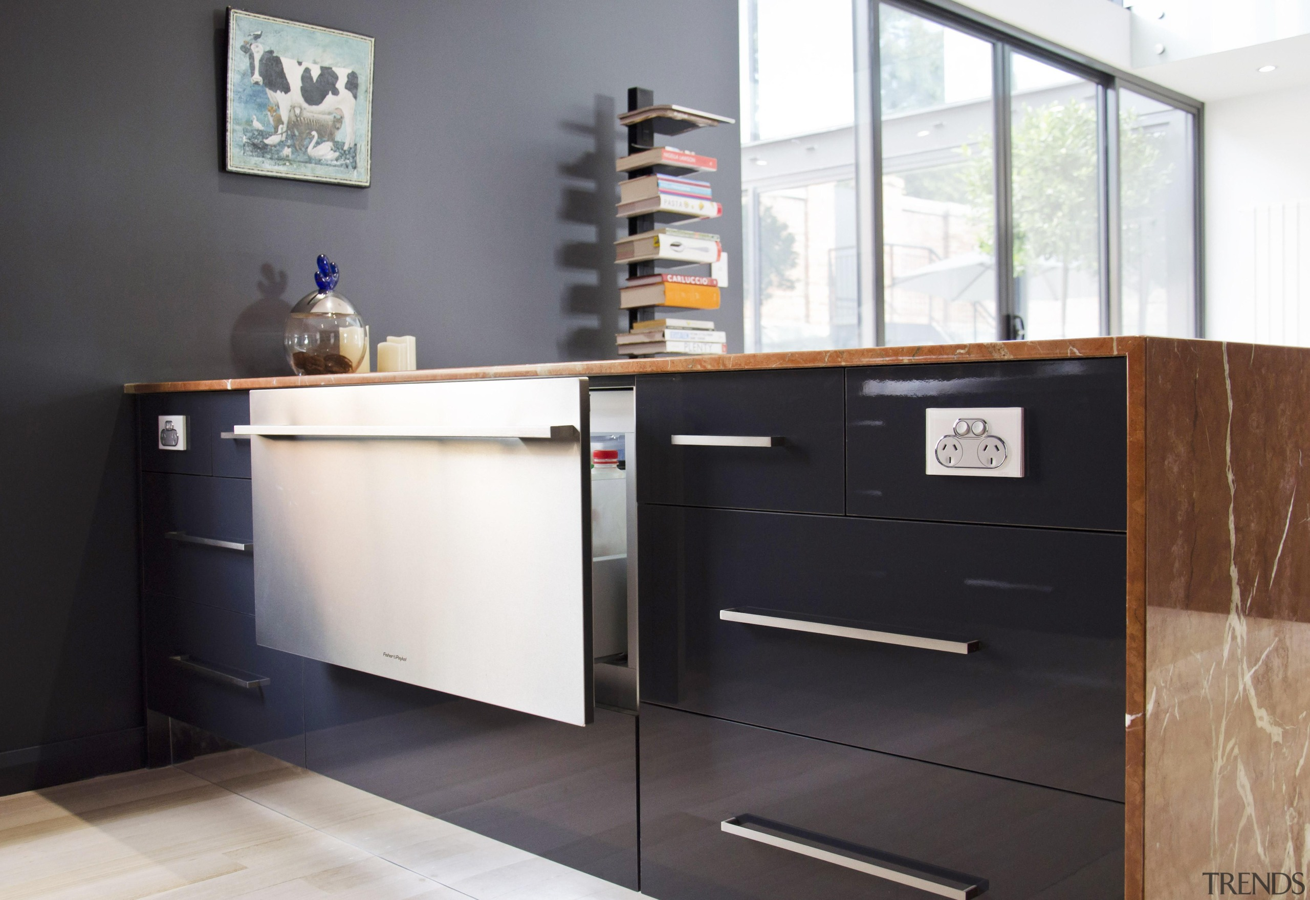 Winner Kitchen Design and Kitchen of the Year cabinetry, chest of drawers, countertop, floor, furniture, kitchen, product design, sideboard, black, white
