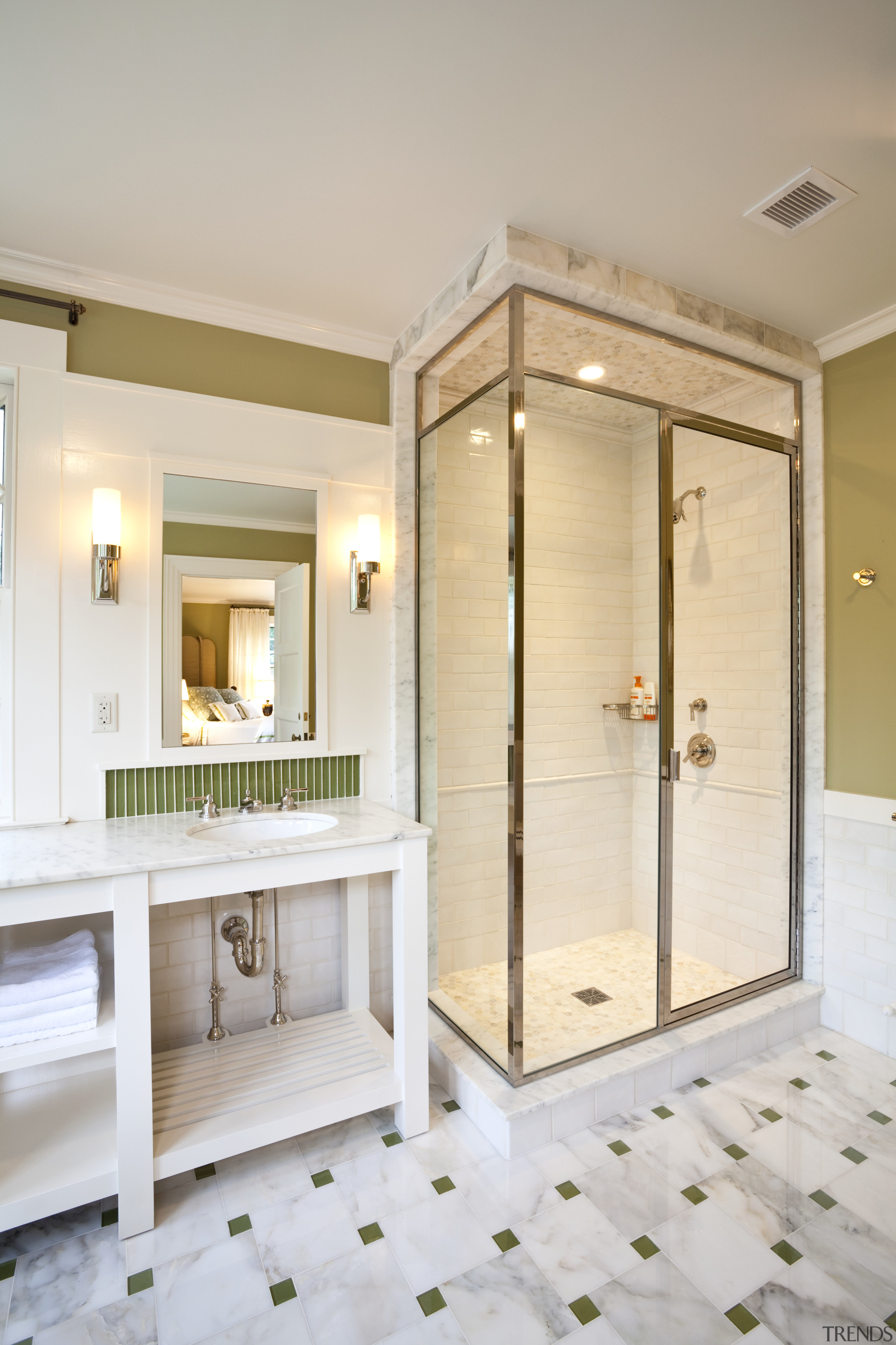 View of home in the historic Brattle Street bathroom, home, interior design, room, gray