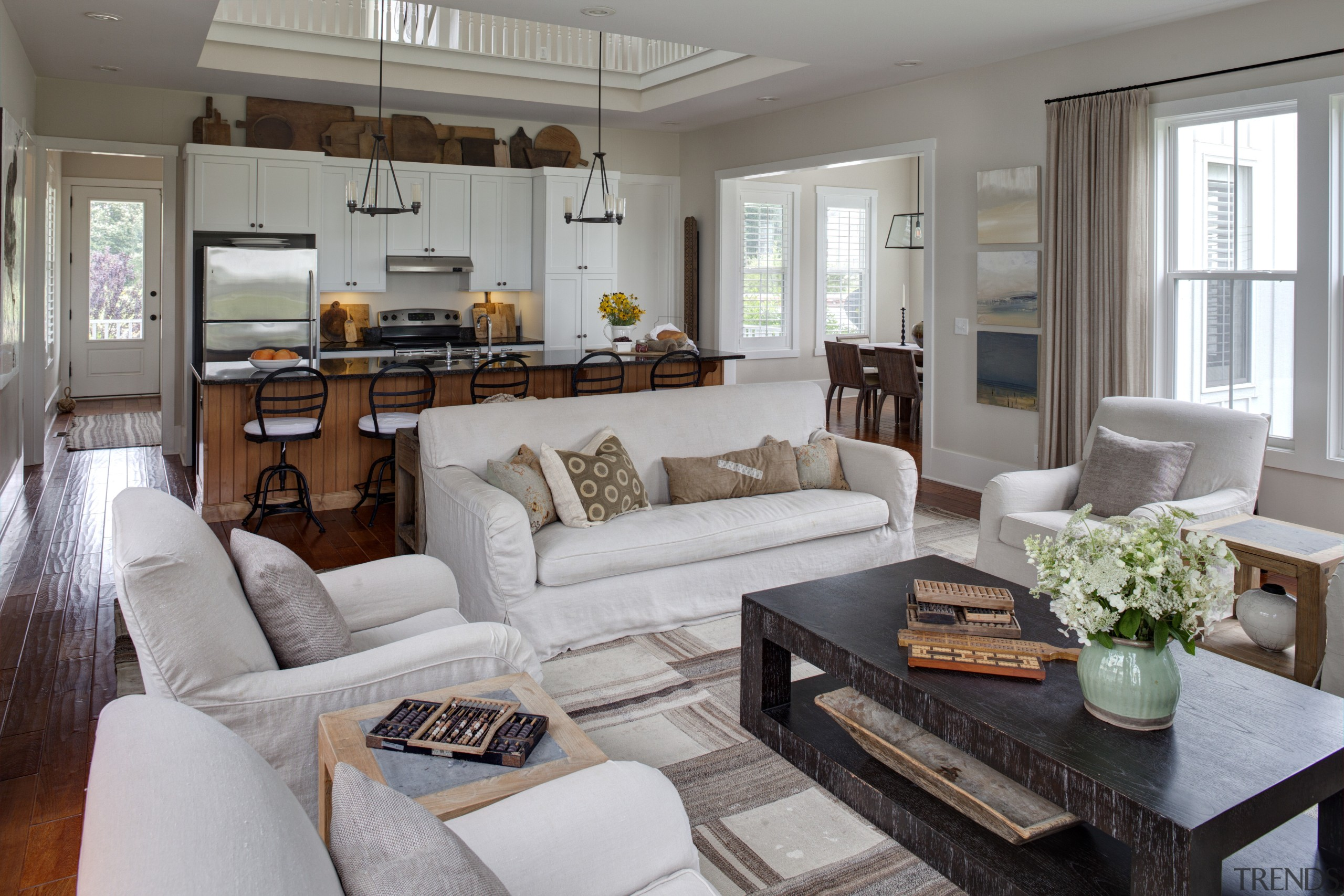 Most soft furnishings in this home are in home, interior design, living room, real estate, room, gray