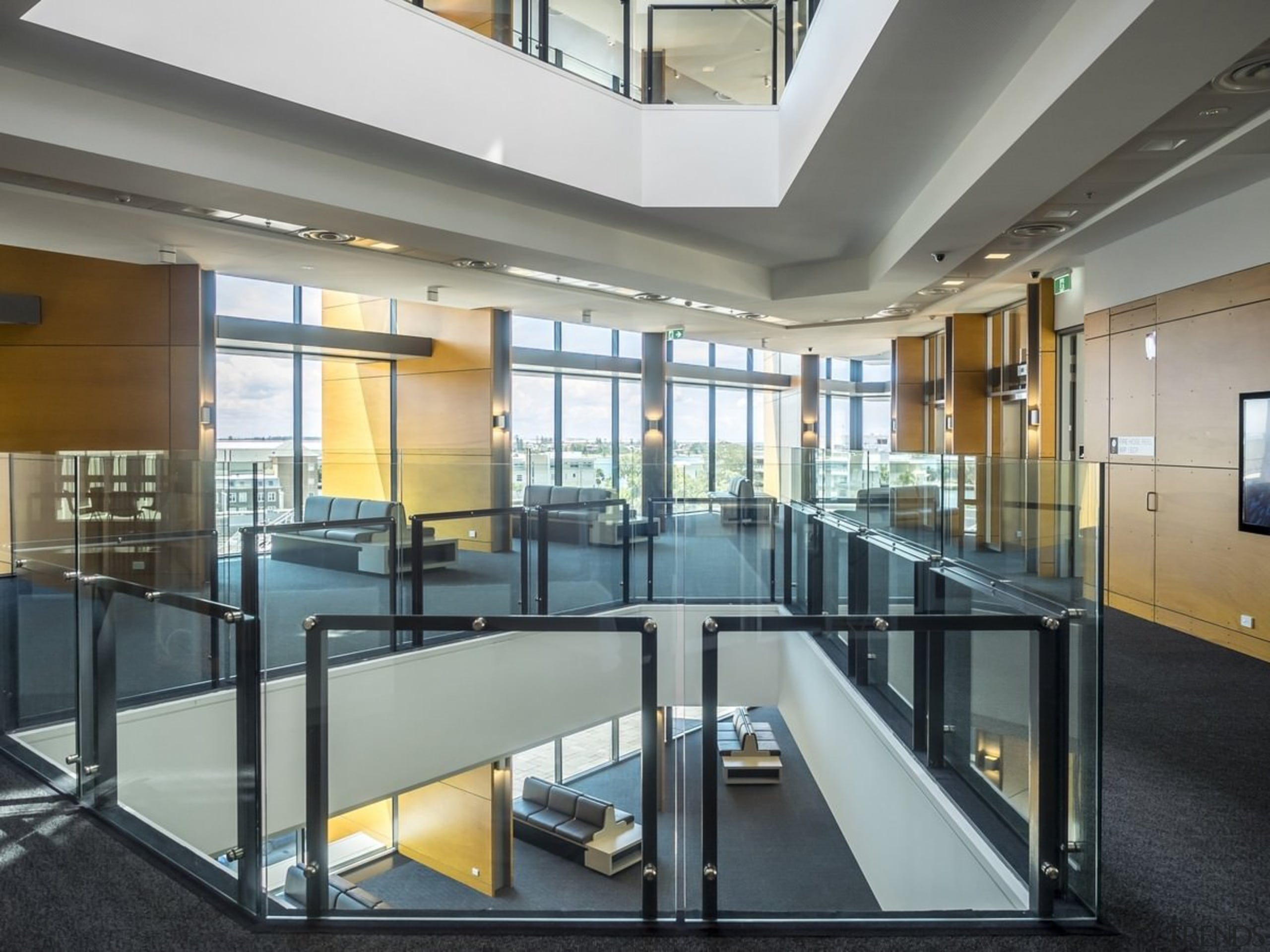 Newcastle Courthouse – Cox Architecture - Newcastle Courthouse daylighting, glass, interior design, lobby, real estate, gray