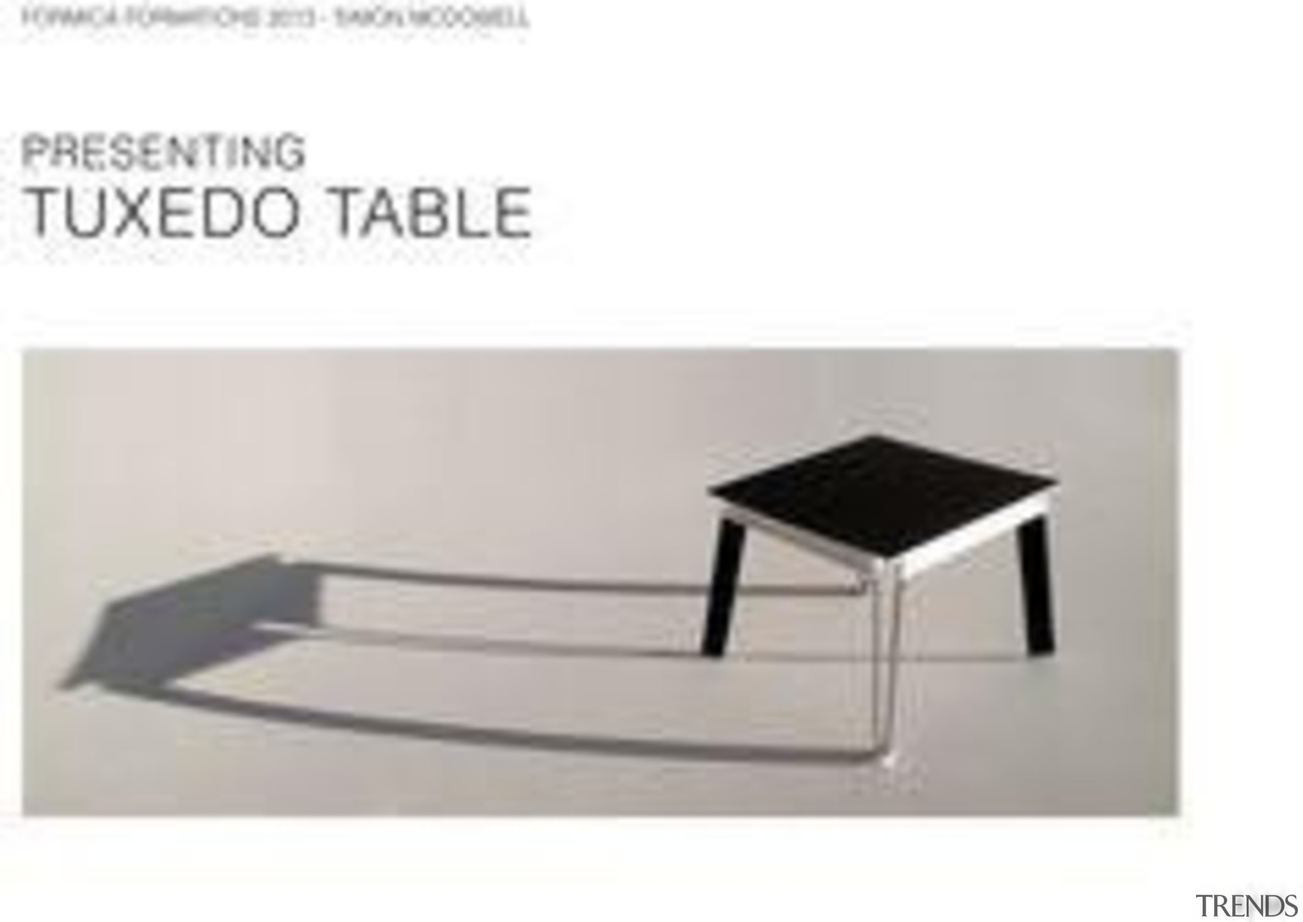 by Simon Lee - Tuxedo Table - angle angle, furniture, product, product design, table, white
