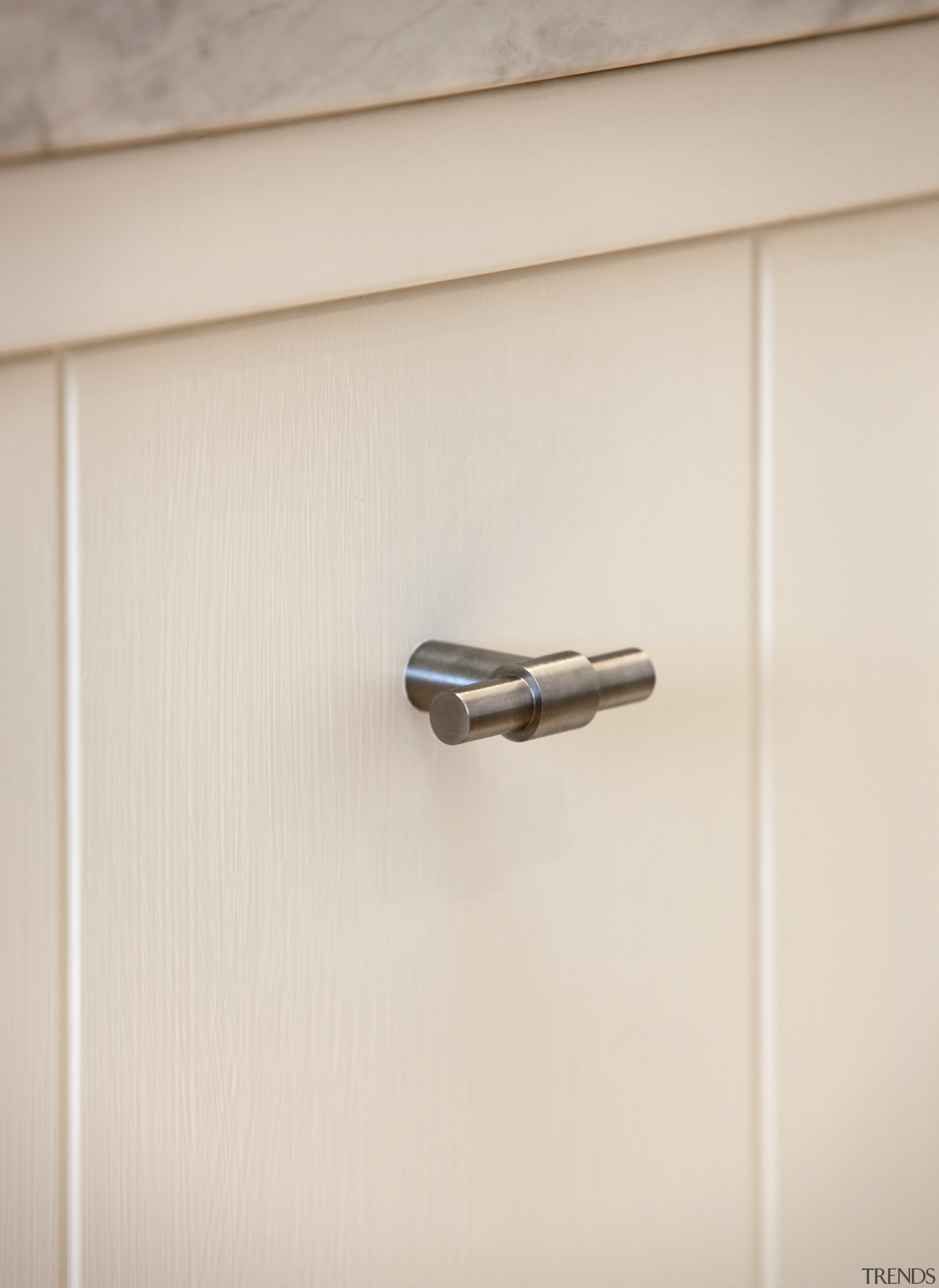 PB14 - Solid Cabinet Knob. Available in Satin door handle, product design, white