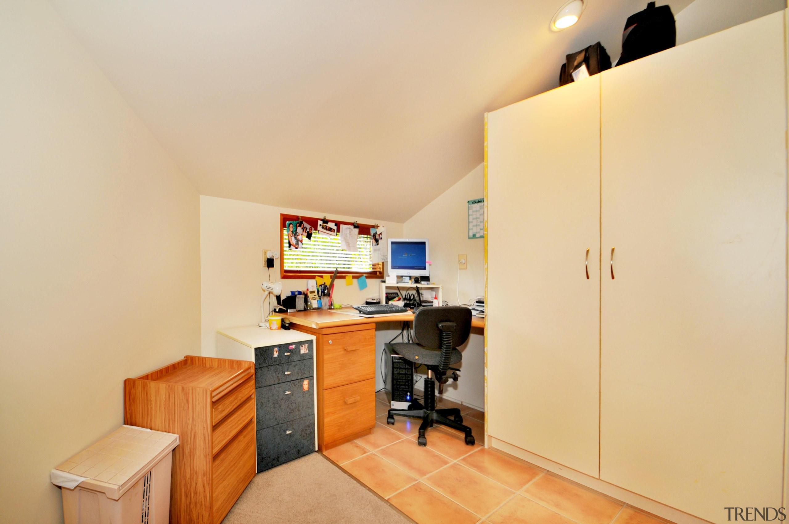 Office - home | interior design | property home, interior design, property, real estate, room, orange