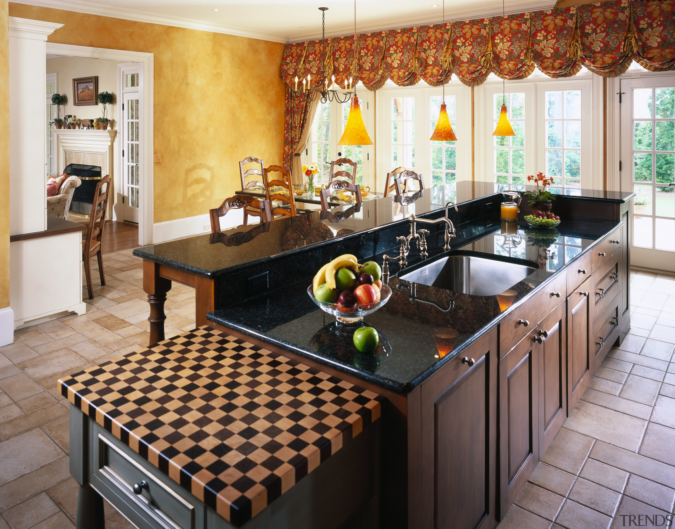 View of this traditional kitchen - View of countertop, interior design, kitchen, real estate, white