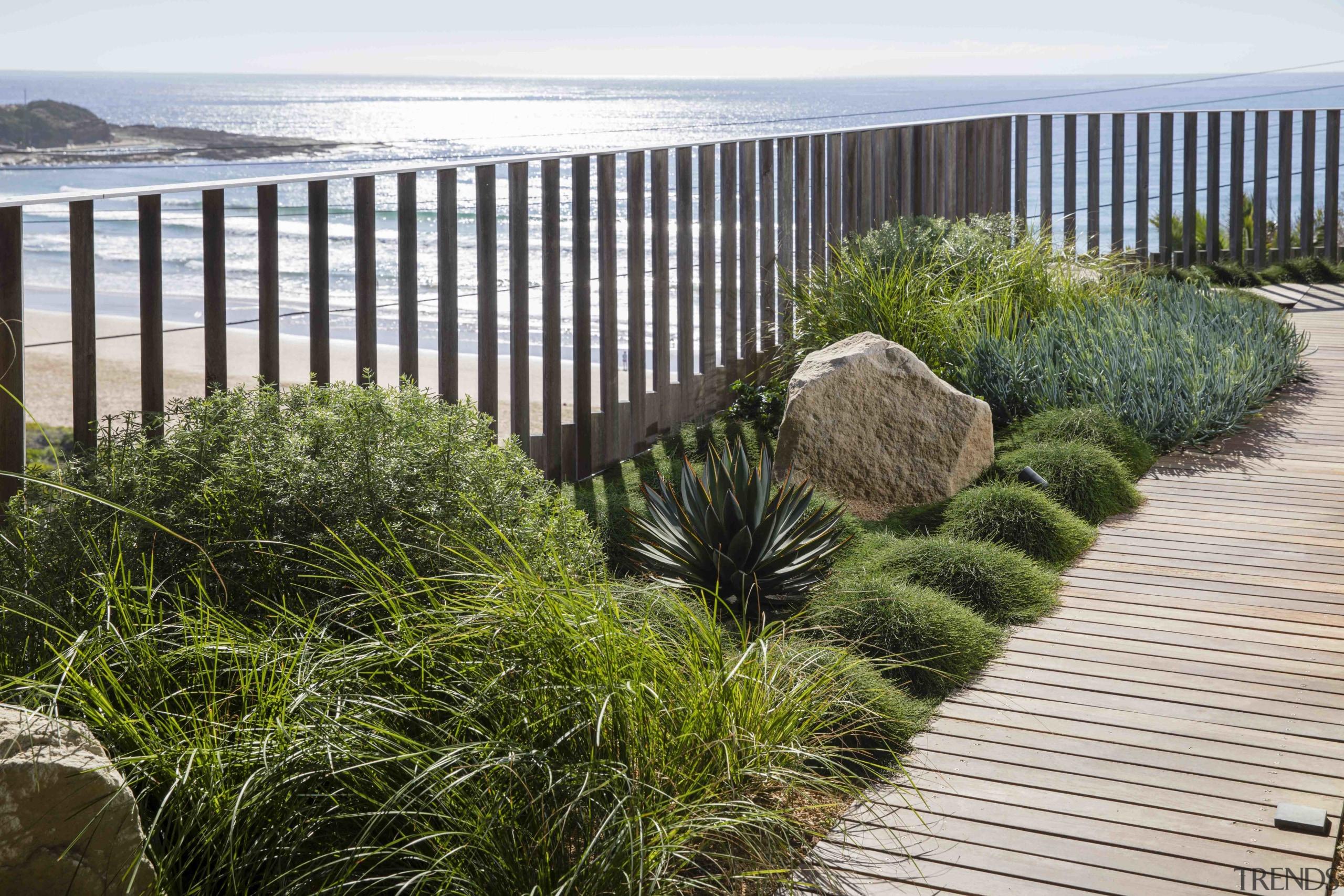 5 top tips for a green rooftop oasis deck, fence, garden, grass, grass family, handrail, home fencing, landscape, landscaping, natural landscape, plant, rock, shrub, tree, walkway, wall, yard, white, brown
